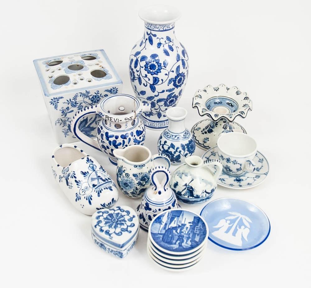 Blue on White Danish Ceramics