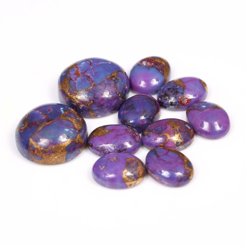 Loose Purple Turquoise Cabochons