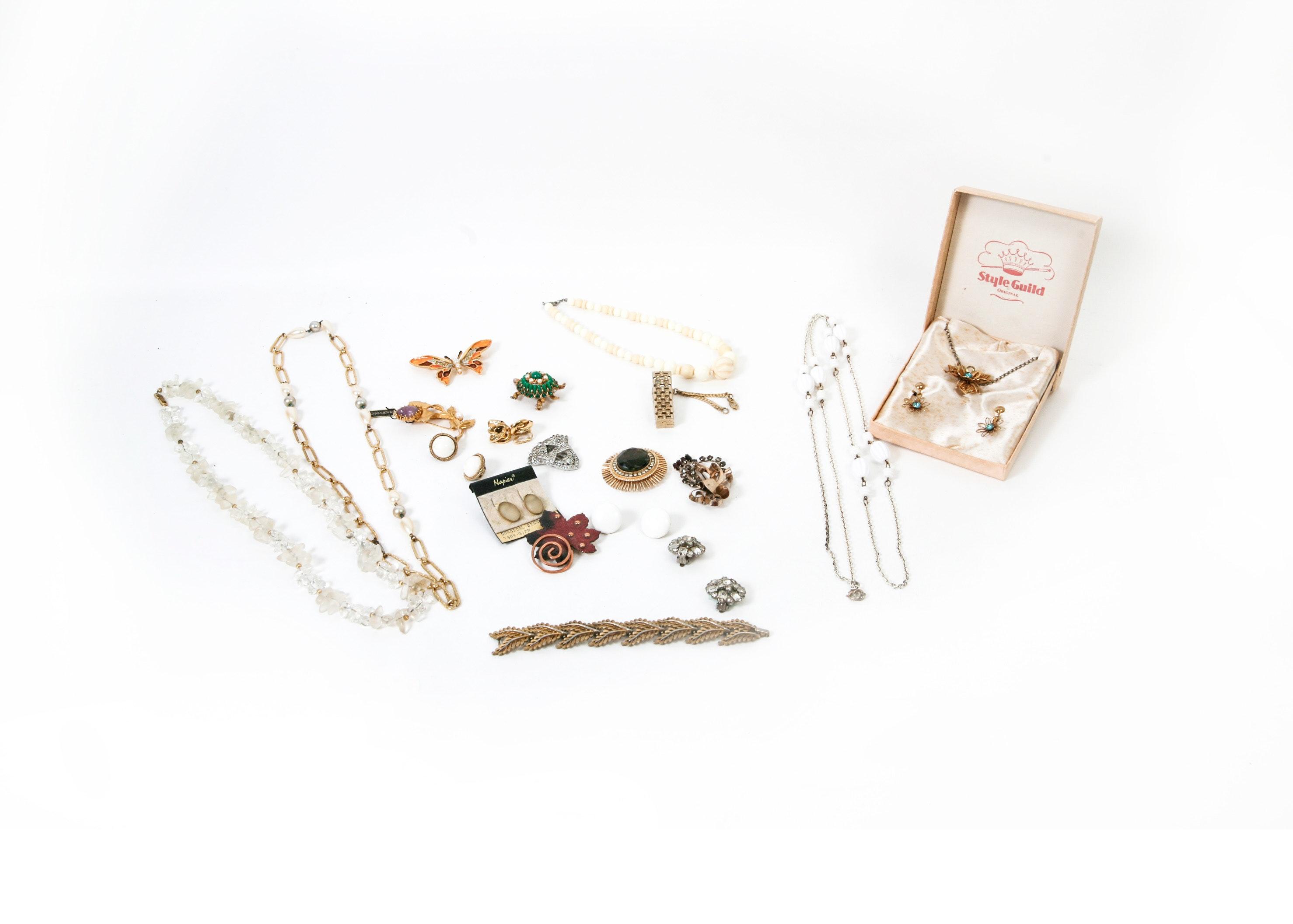 Vintage Signed Costume Jewelry