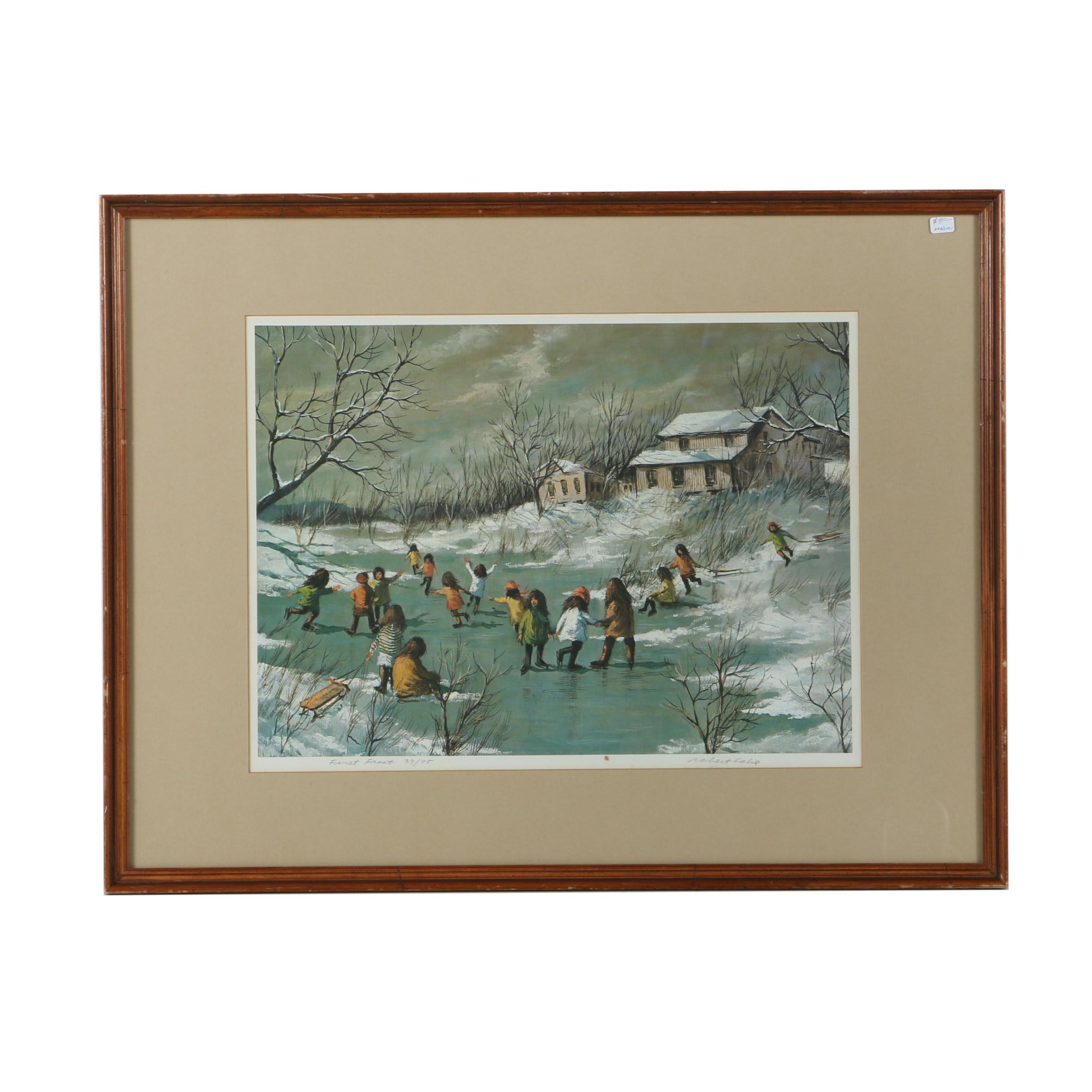 "Robert Fabe Limited Edition Offset Lithograph ""First Frost"""