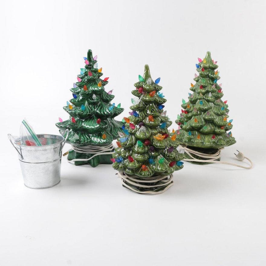 ceramic light up christmas trees - Ceramic Light Up Christmas Tree