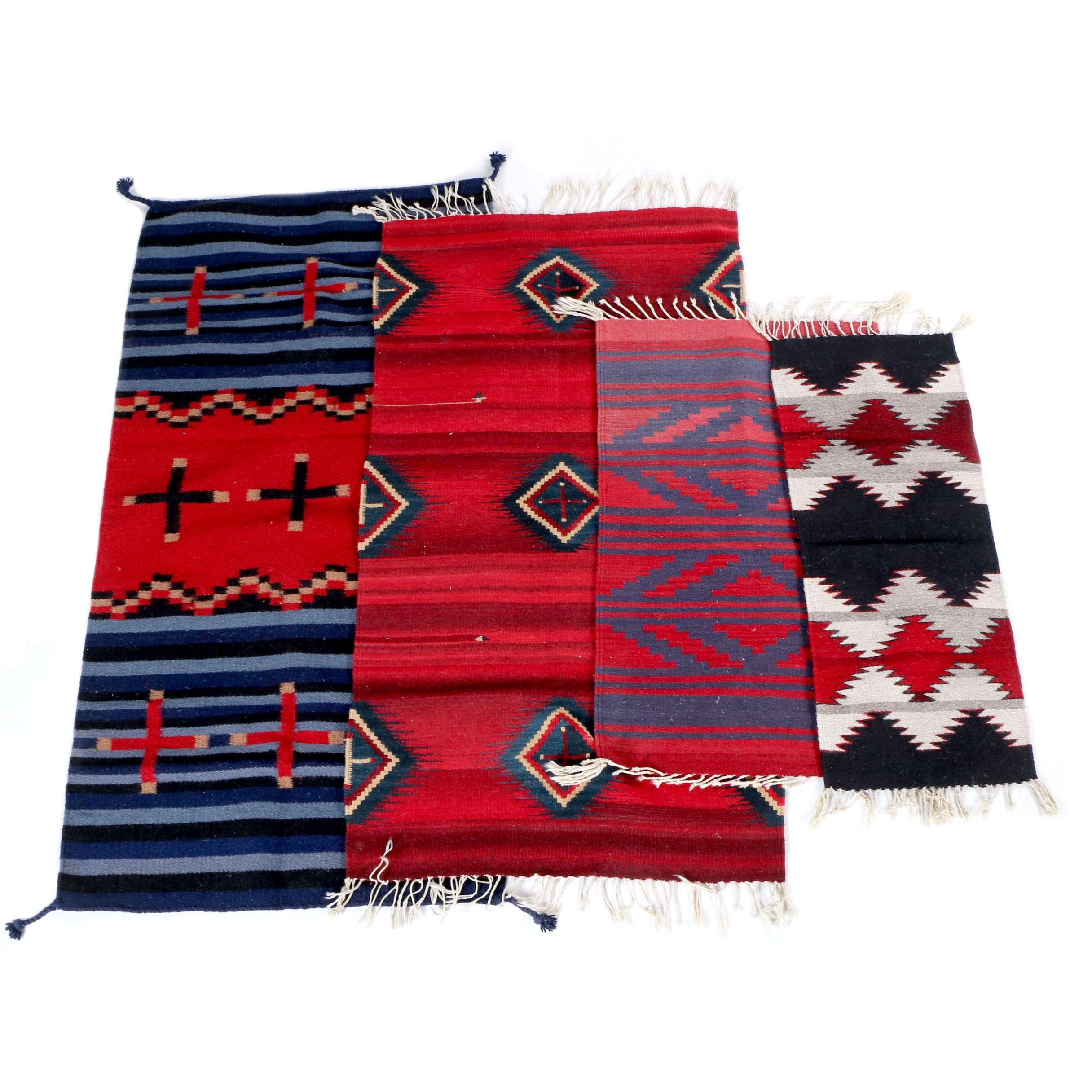 Handwoven Native American Style Rugs Wall Hangings Ebth