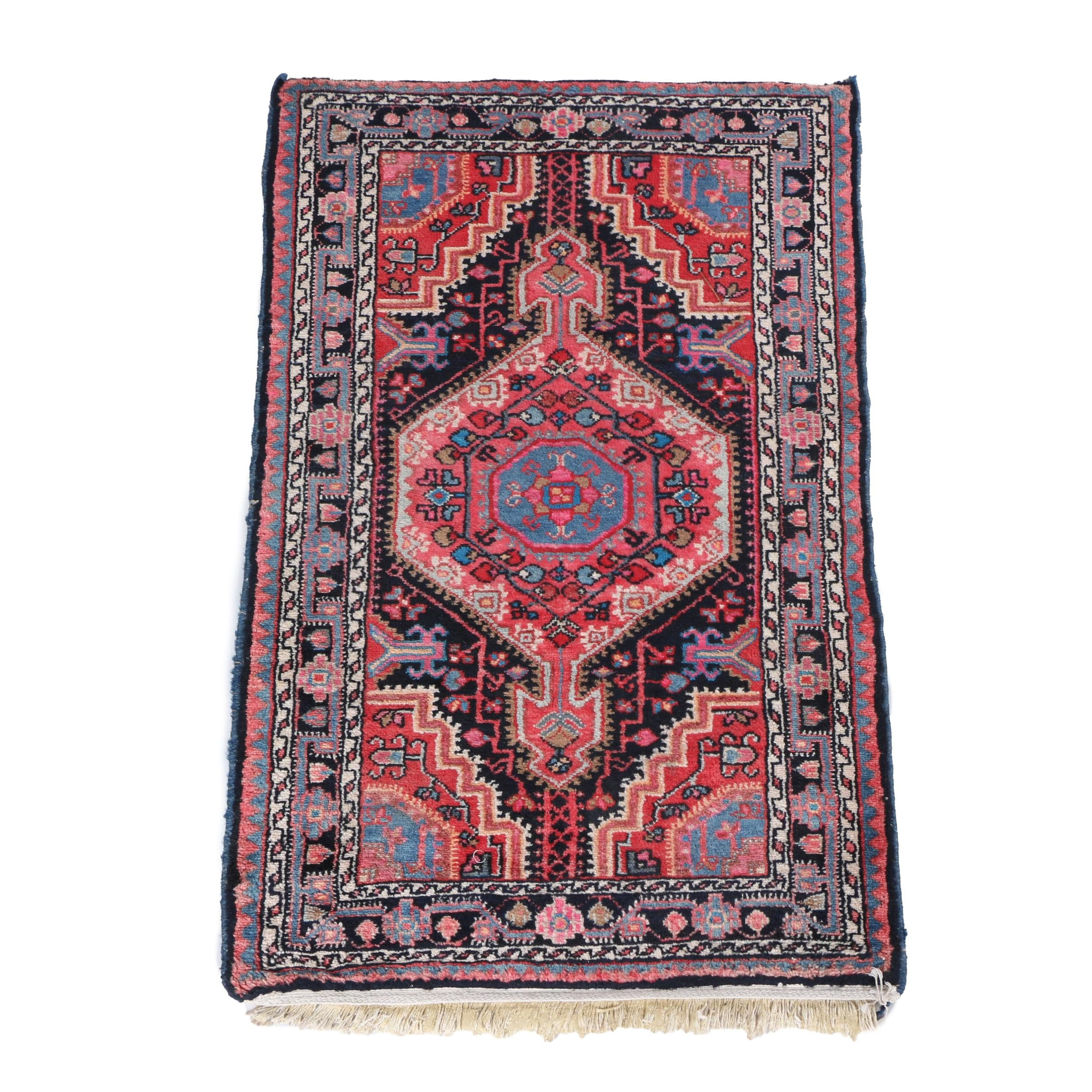 Hand-Knotted Northwest Persian Silk and Wool Accent Rug
