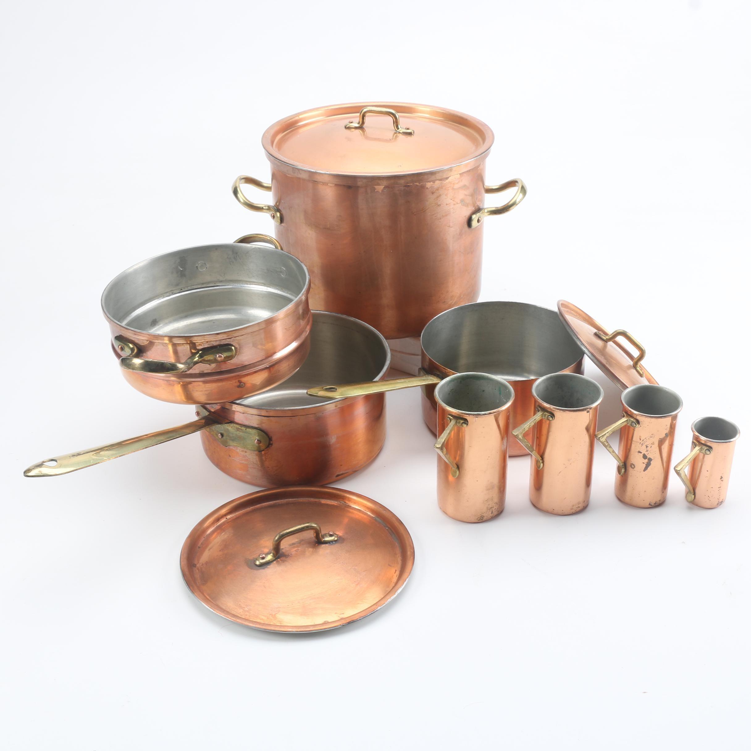 Copper Kitchenware Including B & M Douro