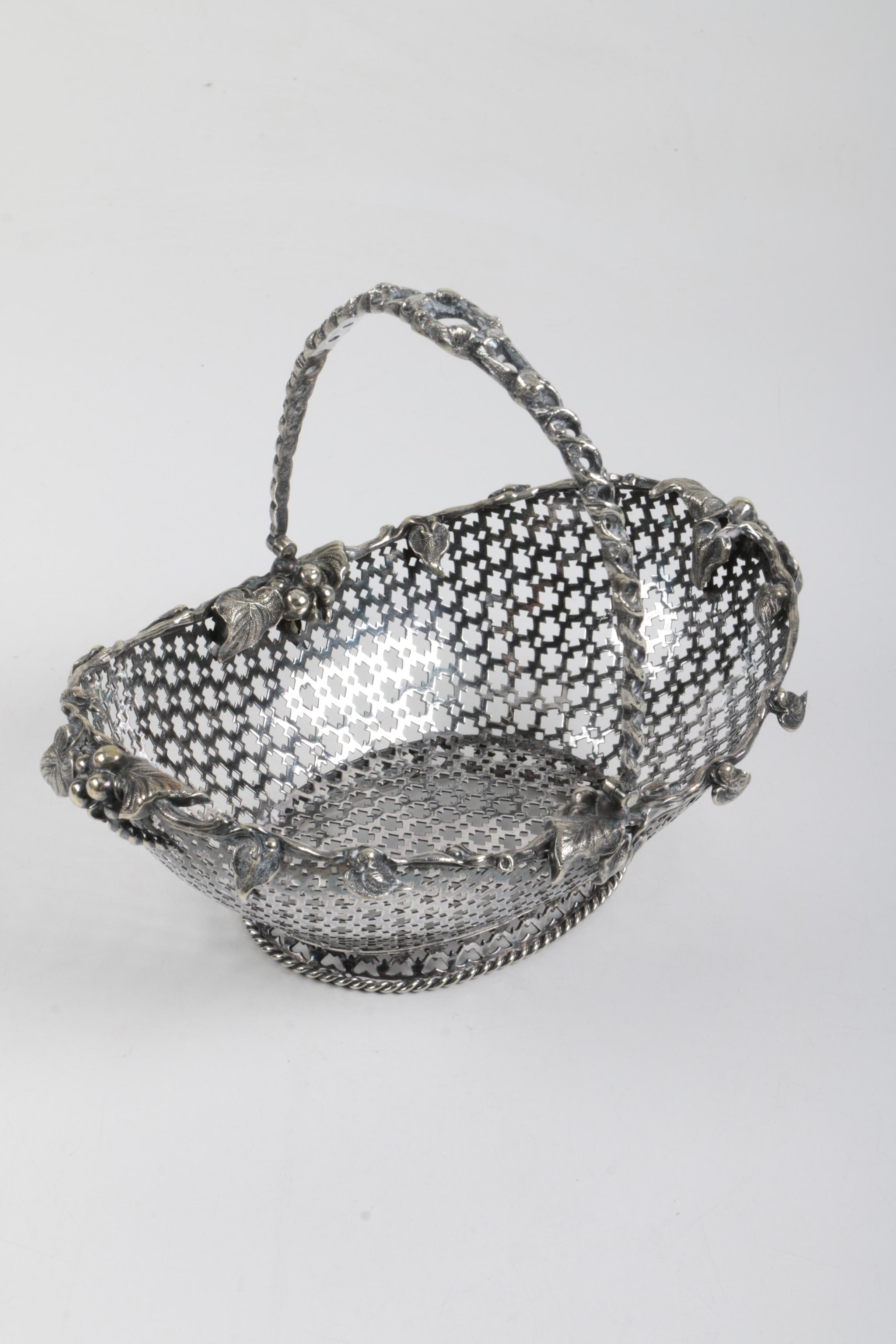 Pierced Silver Plate Basket