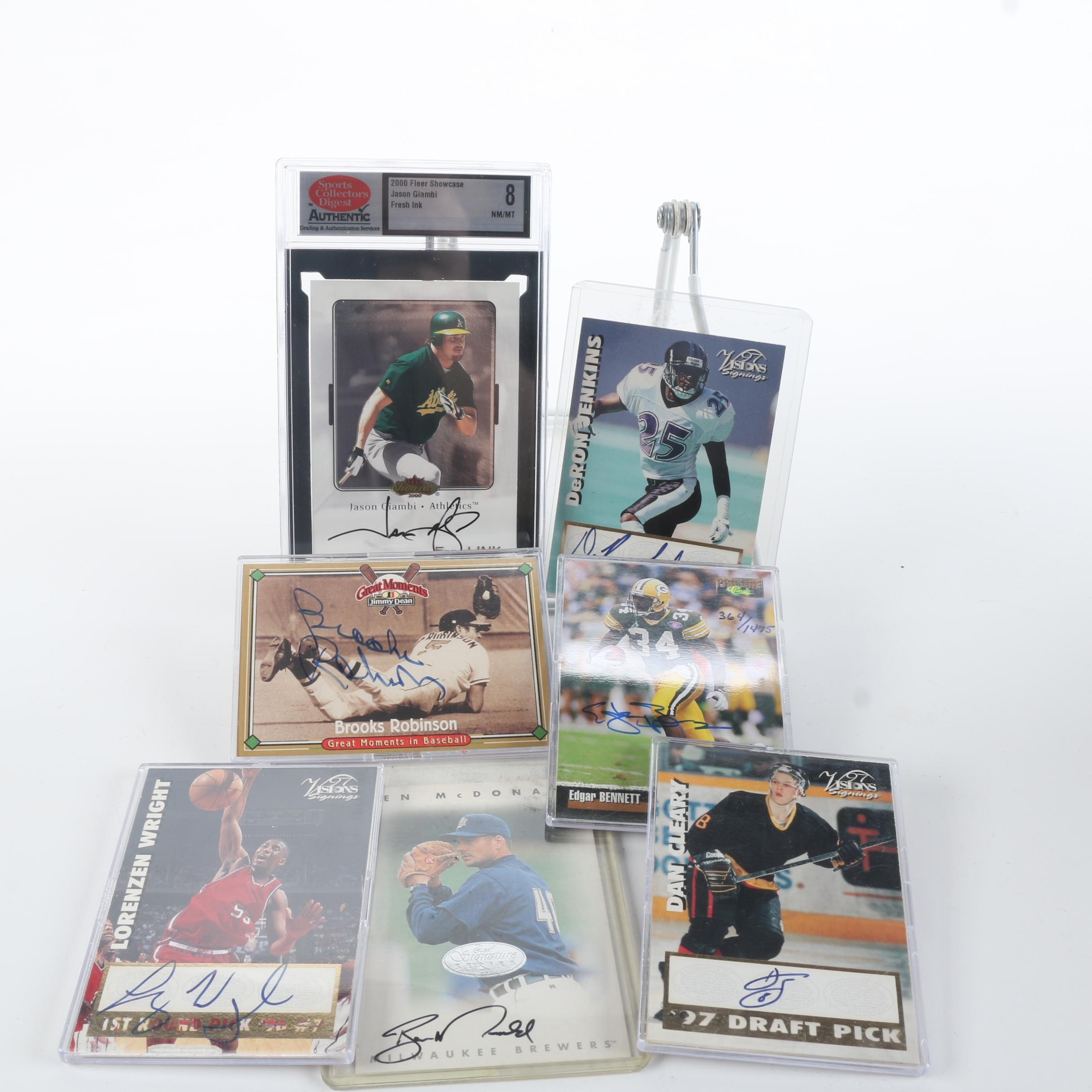 Autographed Sports Cards featuring Brooks Robinson
