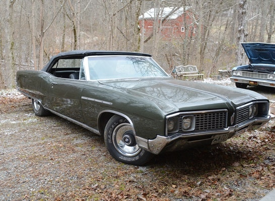 1968 Buick Electra 225 Olive Green Convertible