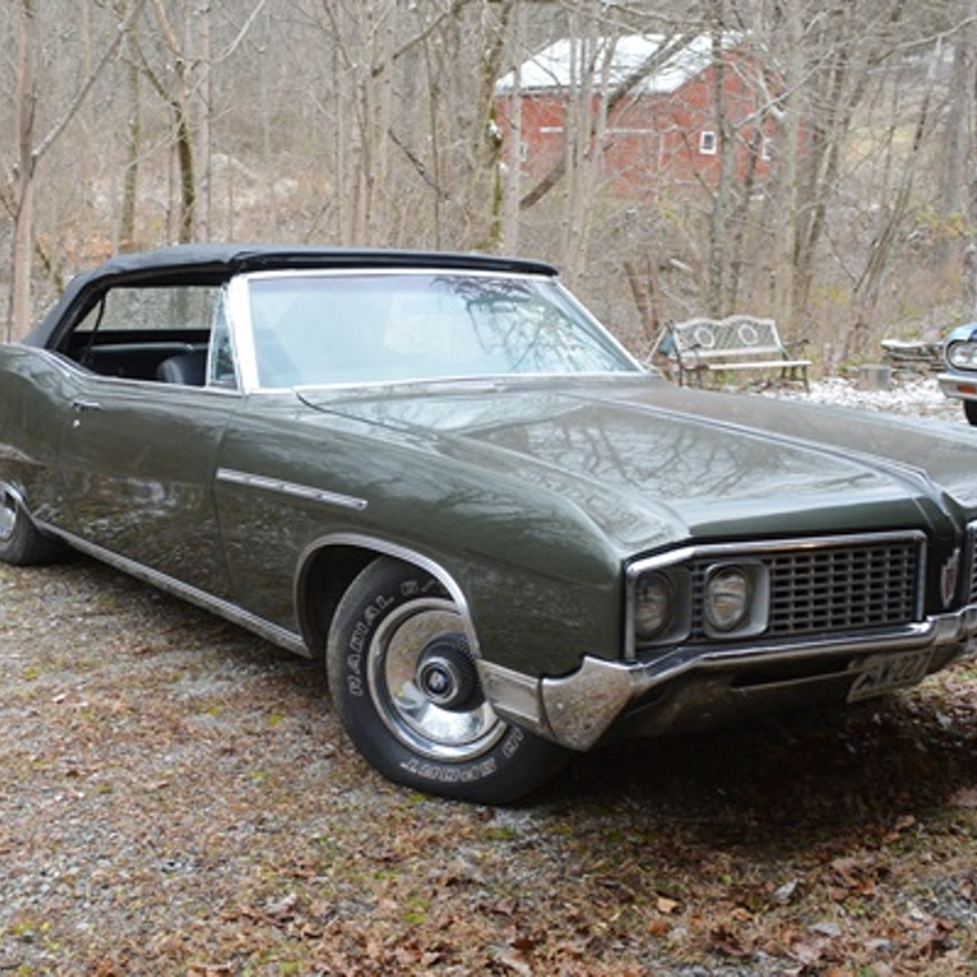 Buick Electric Car: 1968 Buick Electra 225 Olive Green Convertible : EBTH