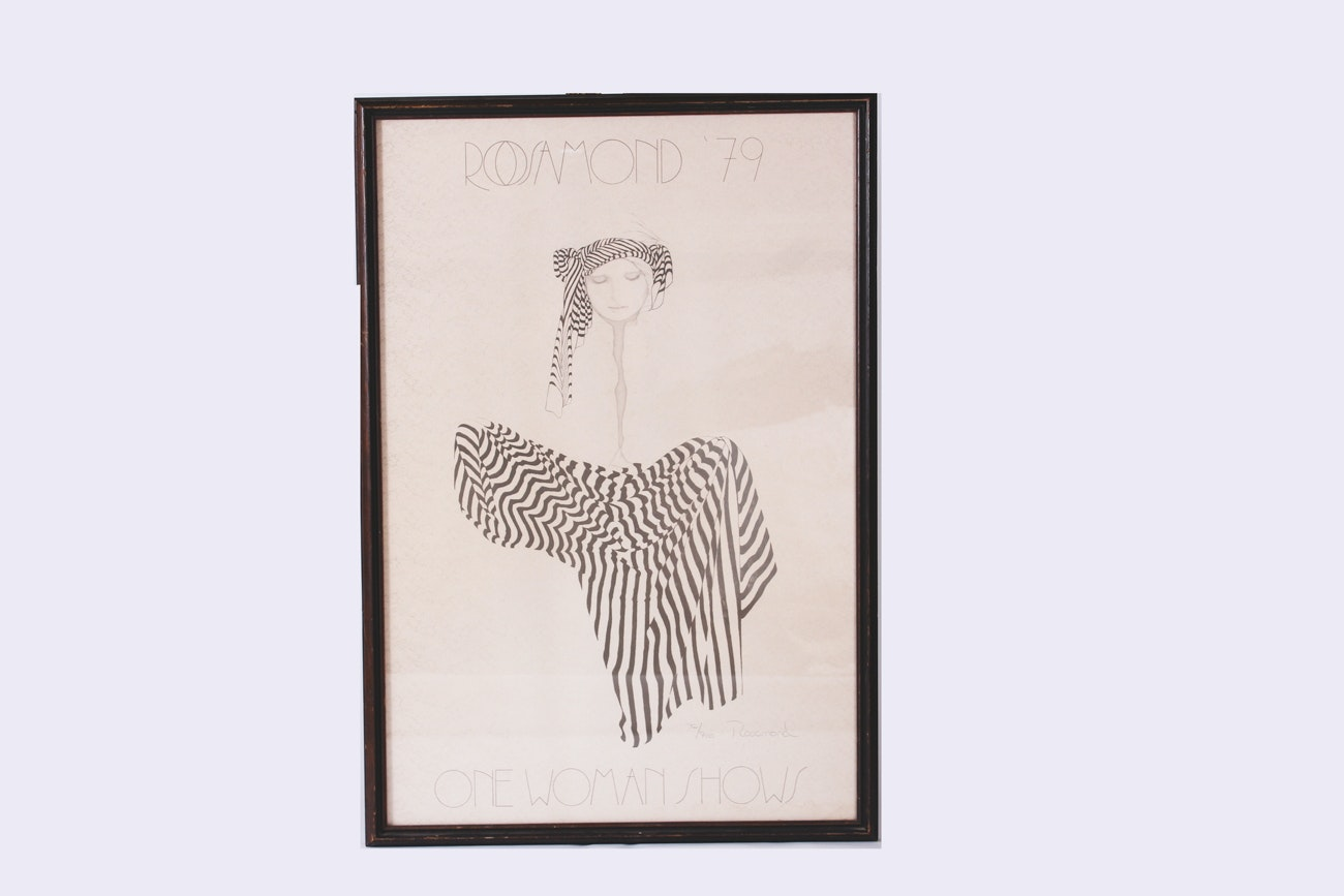 """Signed Limited Edition Rosamund Print """"One Woman Shows"""""""
