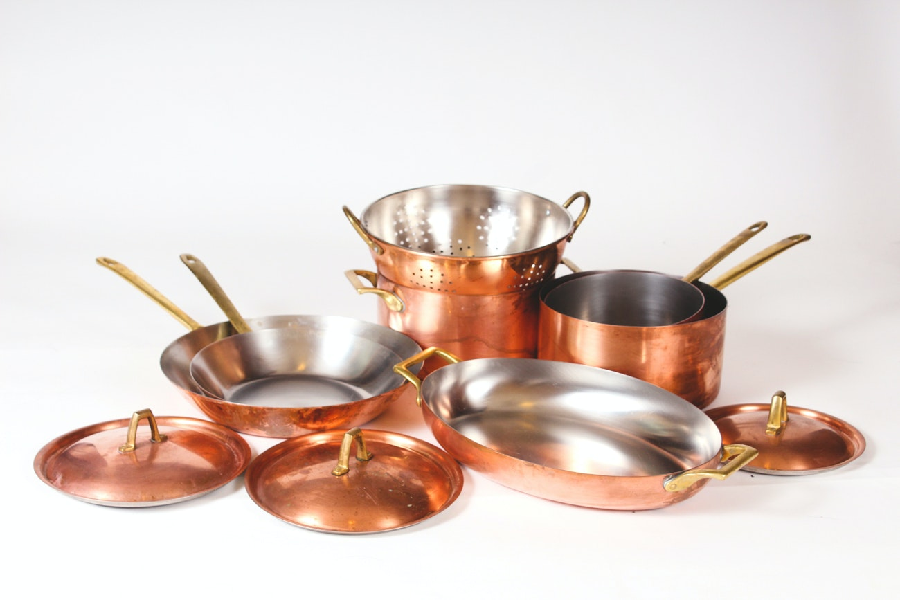 Grouping Of Paul Revere Copper Pots And Pans