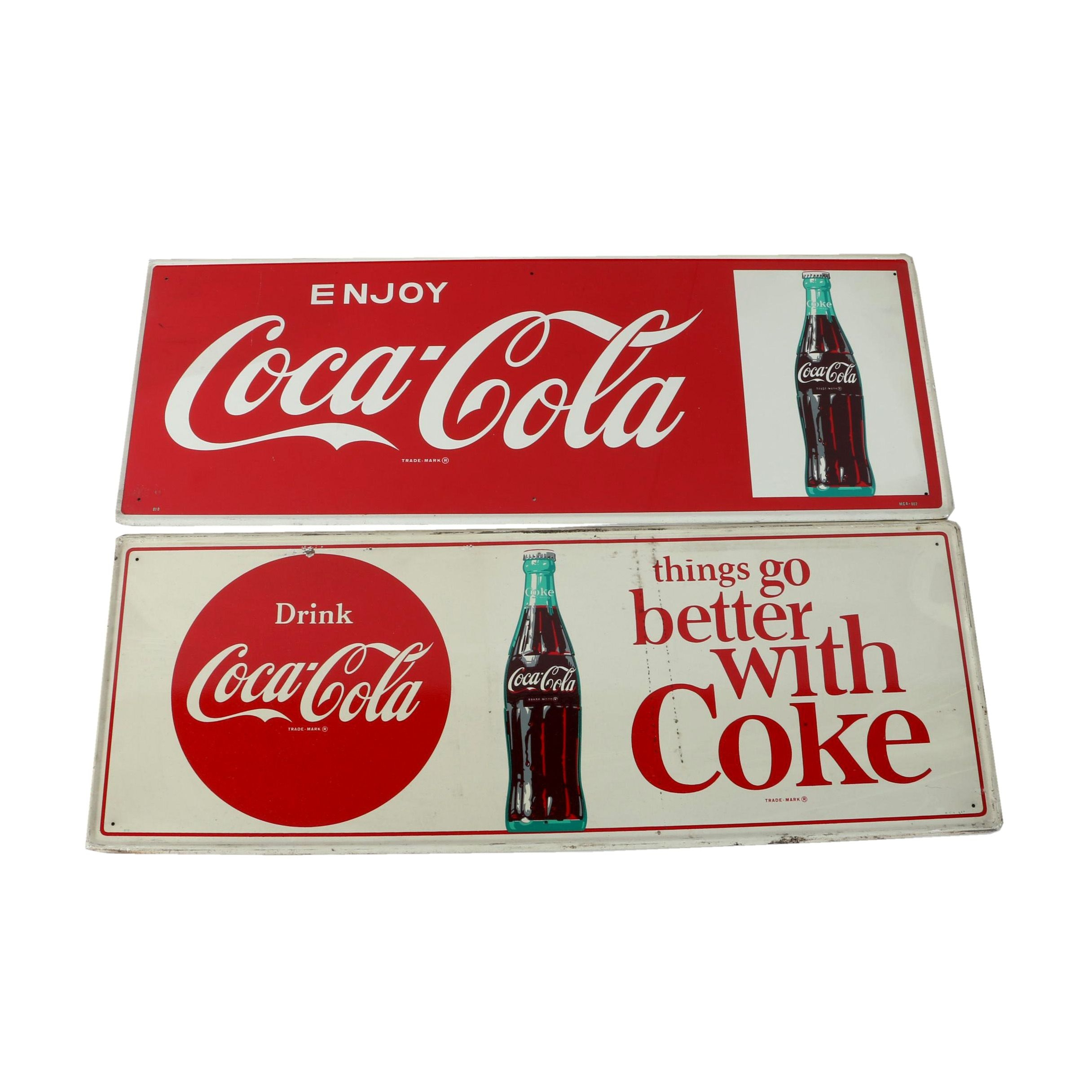 Collection of Metal Coca-Cola Signs
