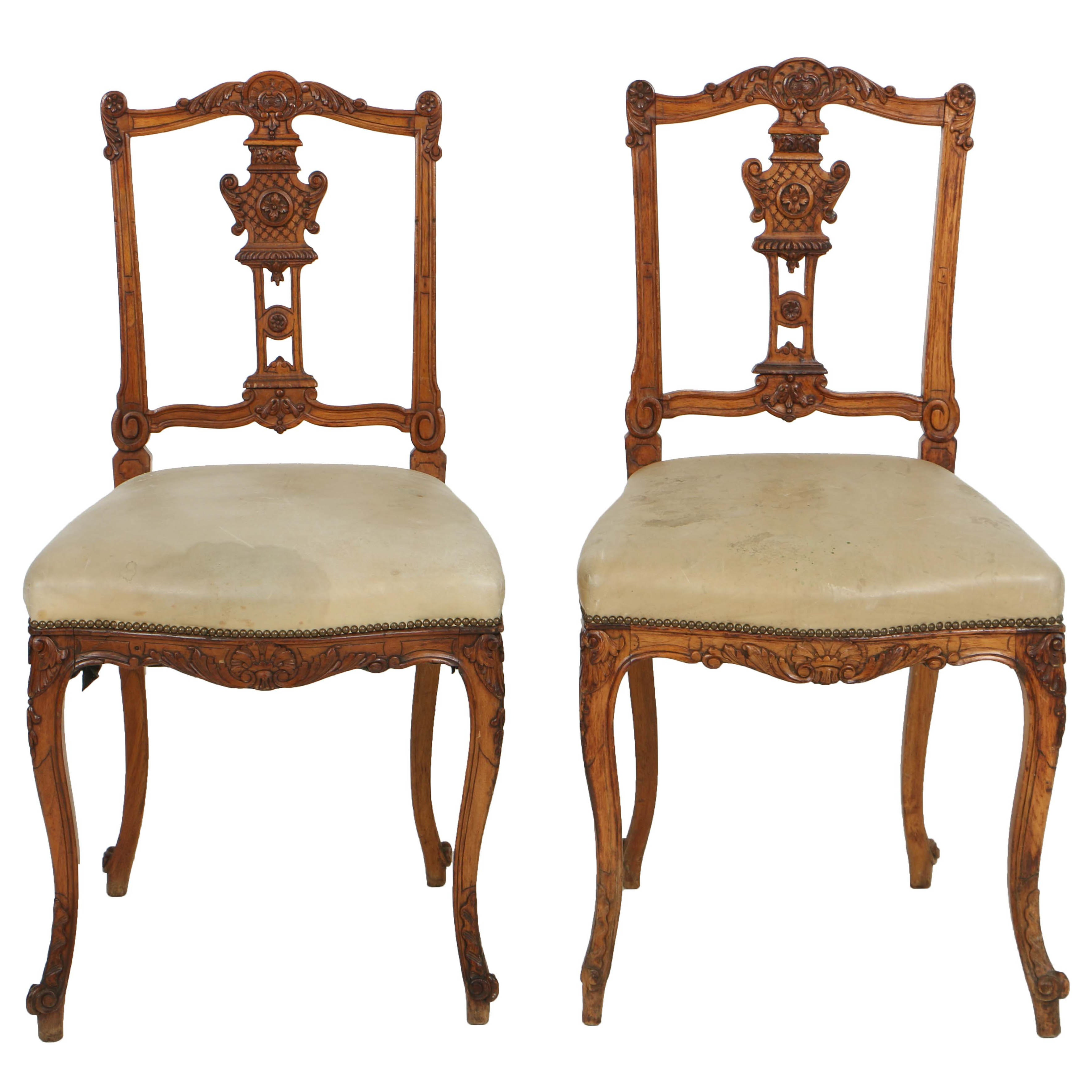Antique Louis XV Style Ballroom Side Chairs, Circa Mid to Late 19th Century