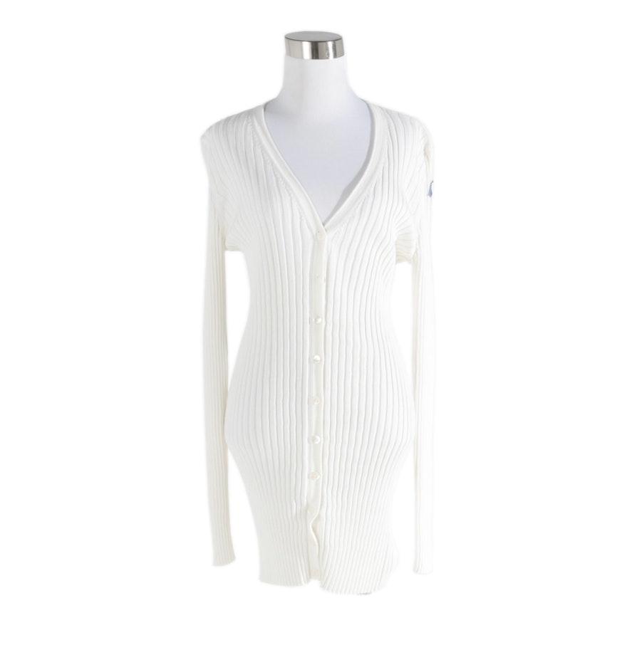 Dolce & Gabbana White Knit Cardigan : EBTH