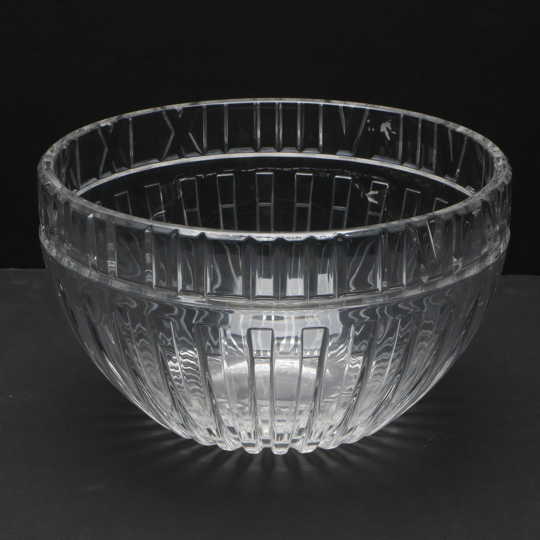 "Tiffany & Co. ""Atlas"" Crystal Bowl"