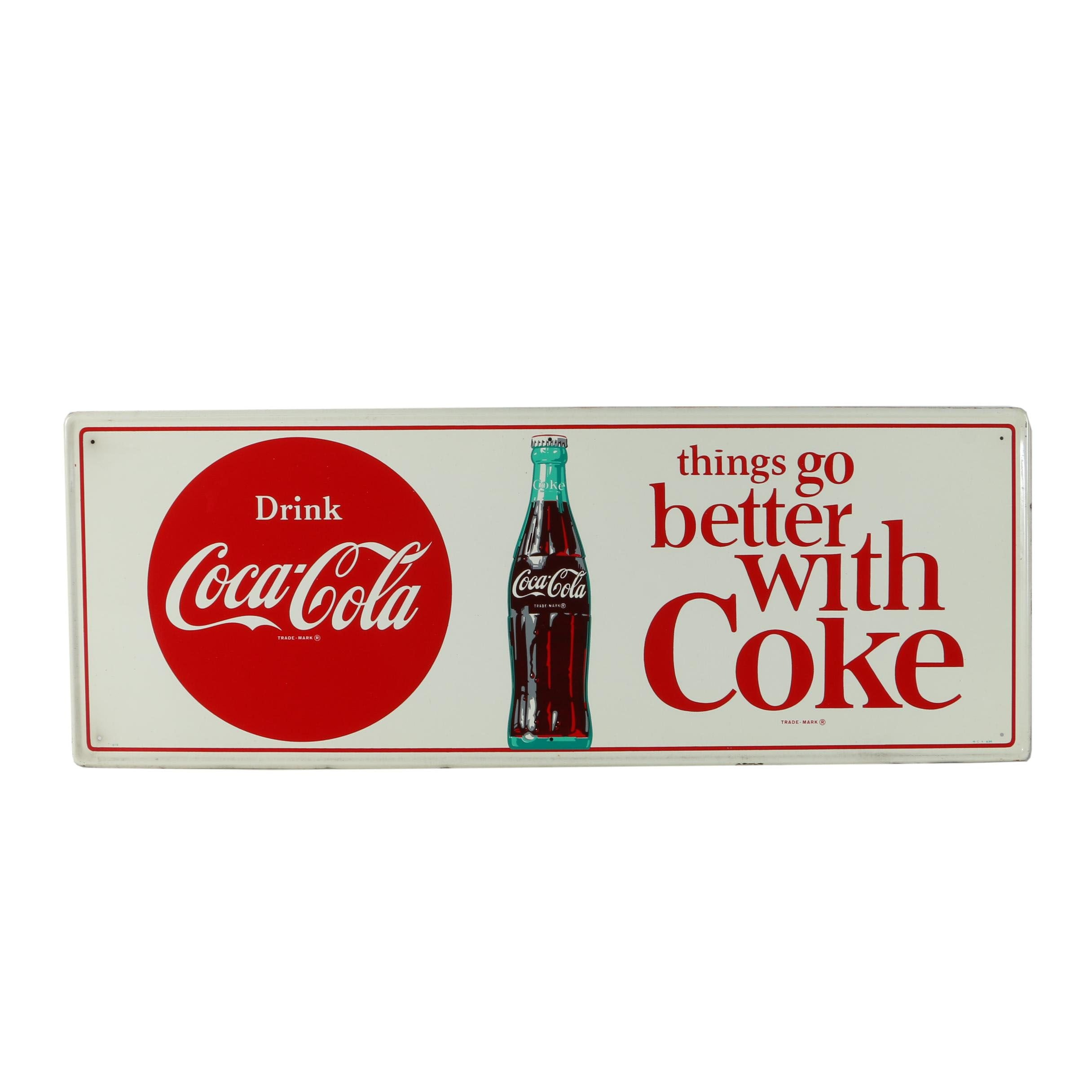 """""""Things Go Better With Coke,"""" Sign"""