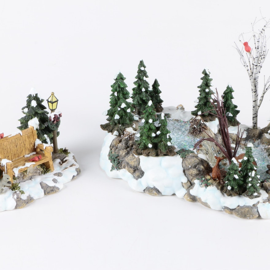 Christmas Village Accessories.Department 56 Mill Creek Christmas Village Accessories
