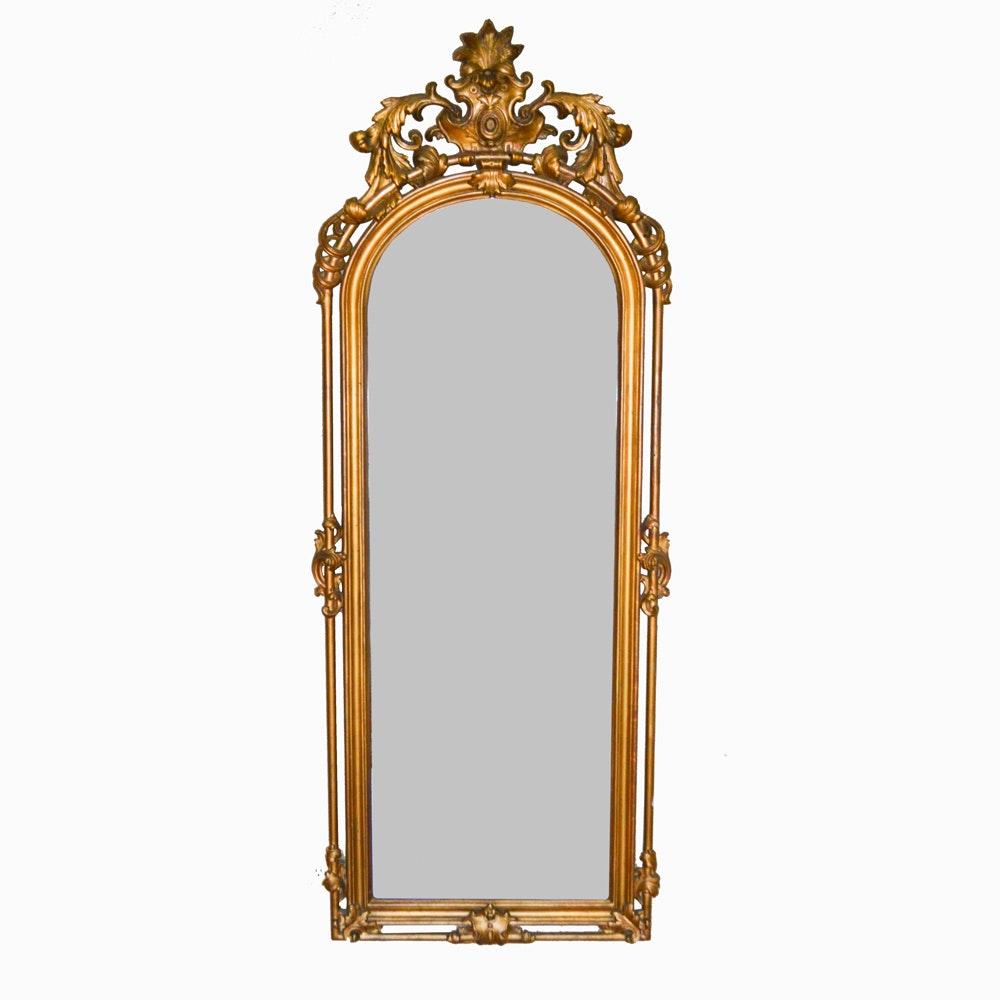 Antique American Rococo Revival Giltwood Pier Mirror