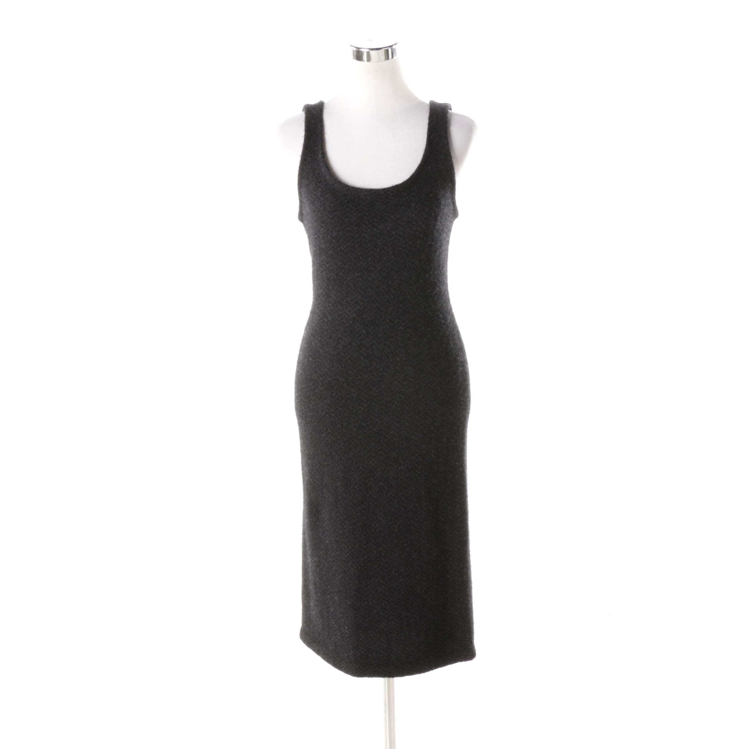 Ralph Lauren Charcoal Grey Cashmere Tank Dress