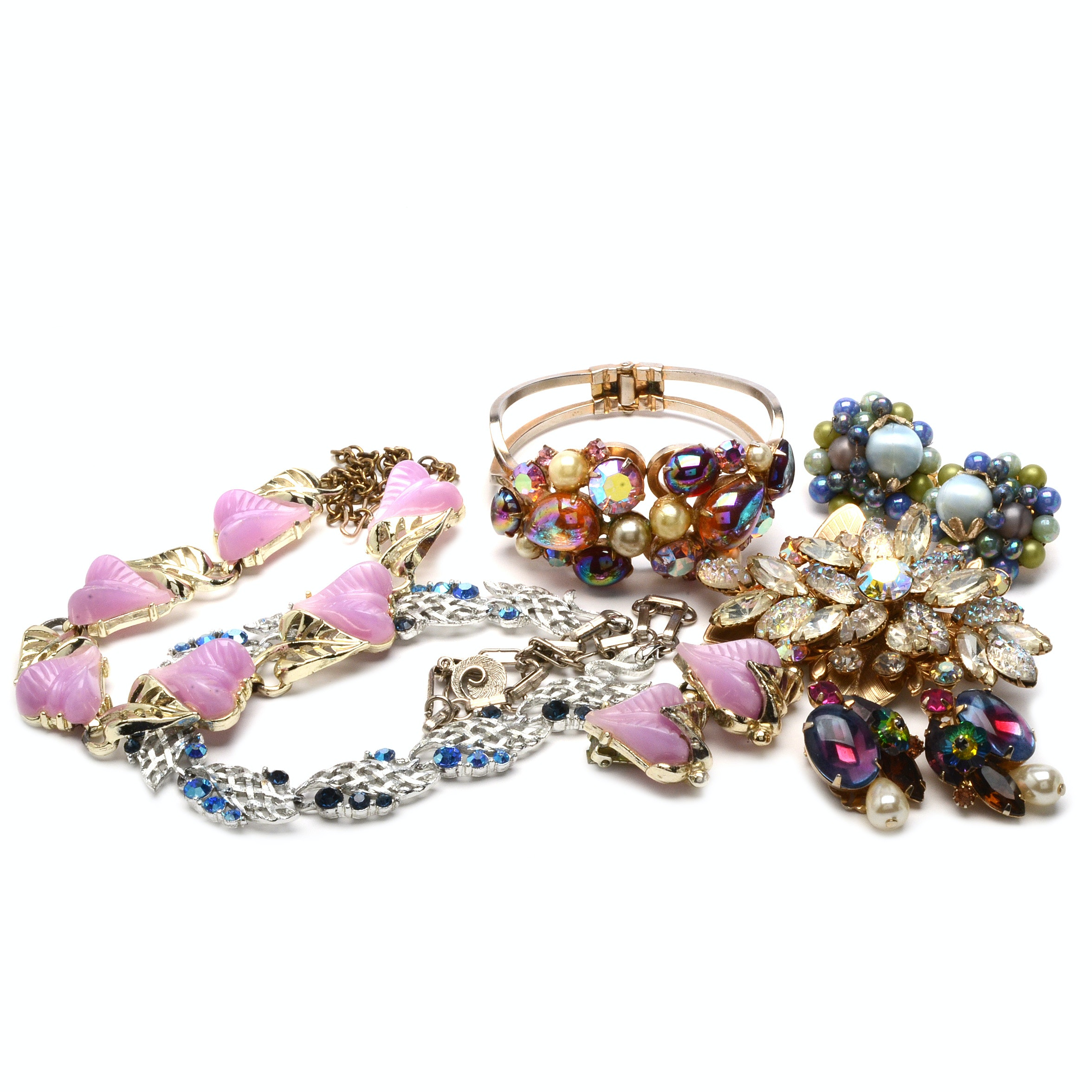 Colorful Vintage Costume Jewelry Including Alice Caviness