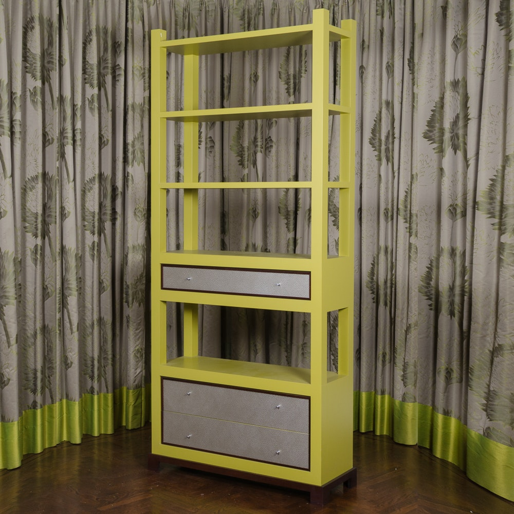 Contemporary Lime Green Bookcase
