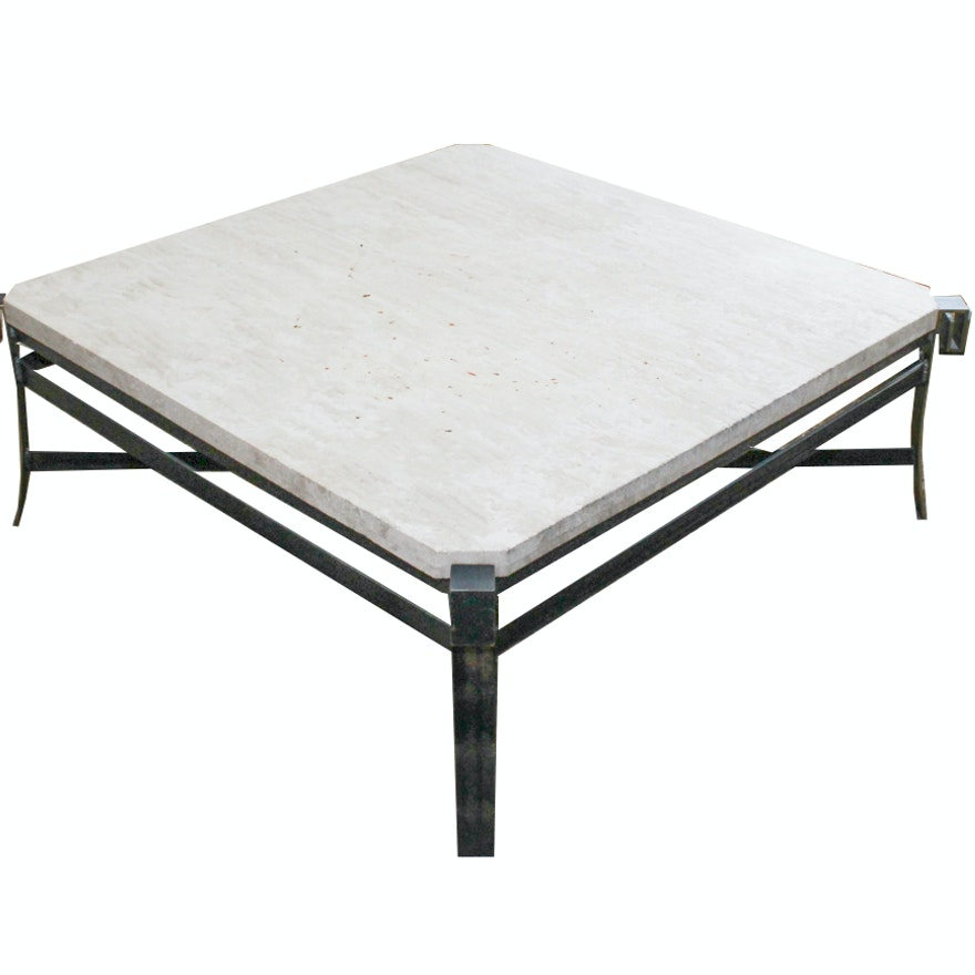 Concrete Slab Coffee Table EBTH - Concrete slab coffee table