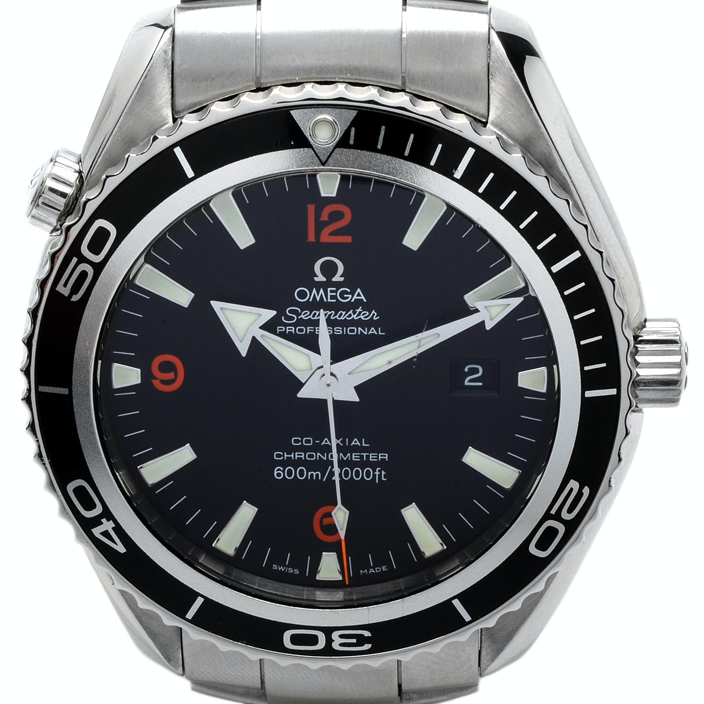 Omega Seamaster Planet Ocean Black Co-Axial 45 mm AutoSteel Wristwatch