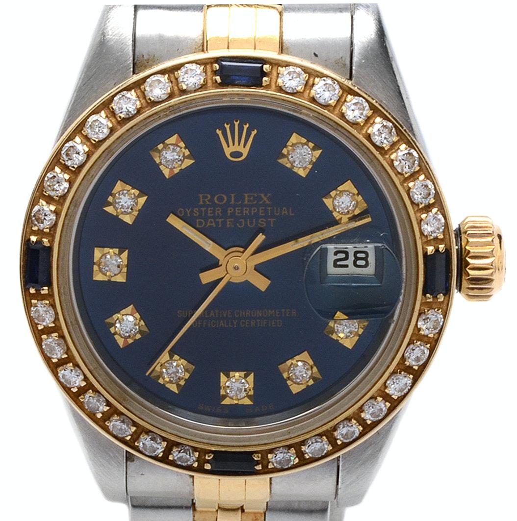Rolex Datejust 18K Gold and Diamond Automatic Wristwatch