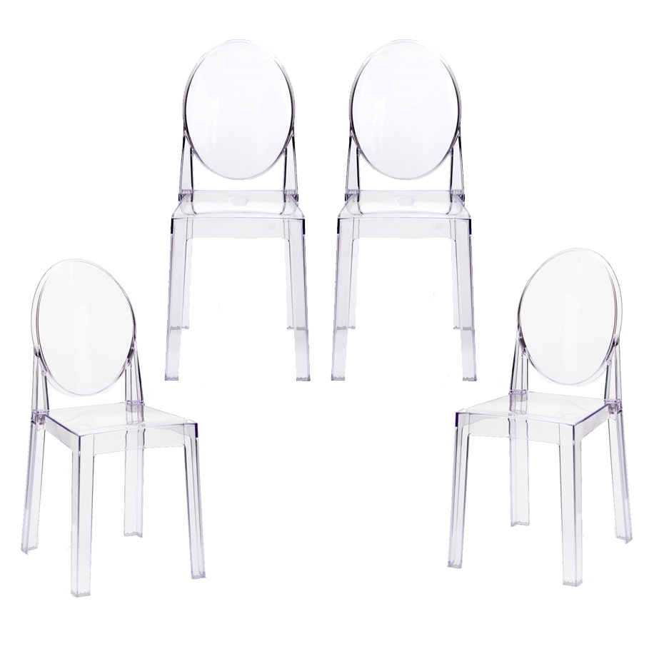 """Set of Four """"Ghost"""" Style Chairs"""