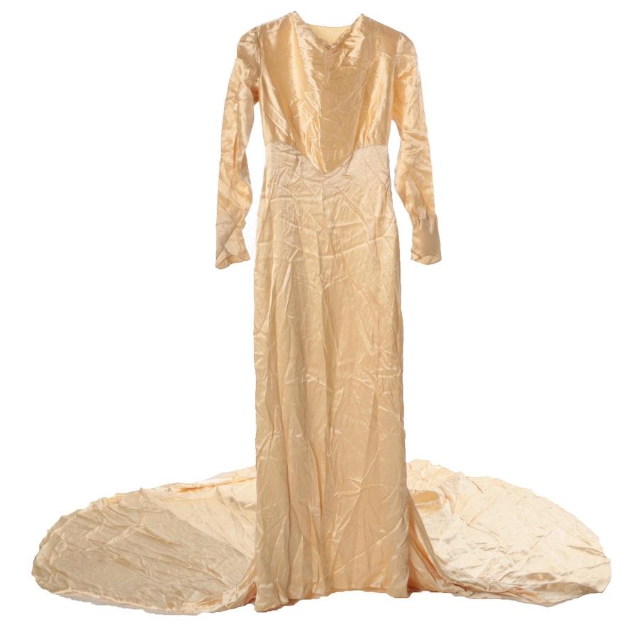 Circa 1920s-1930s Madame Zafel Hollywood Wedding Gown : EBTH