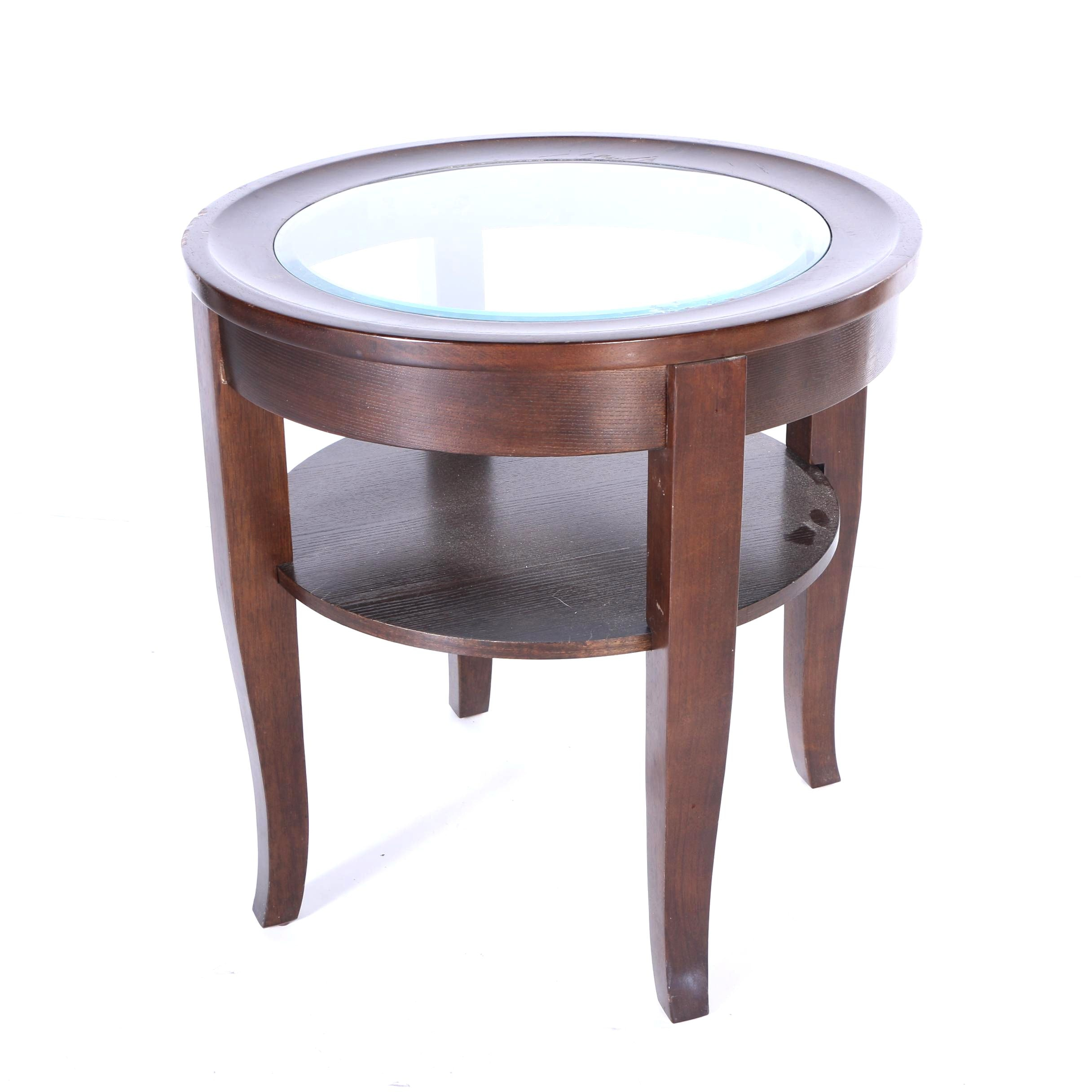Glass Top Side Table ...