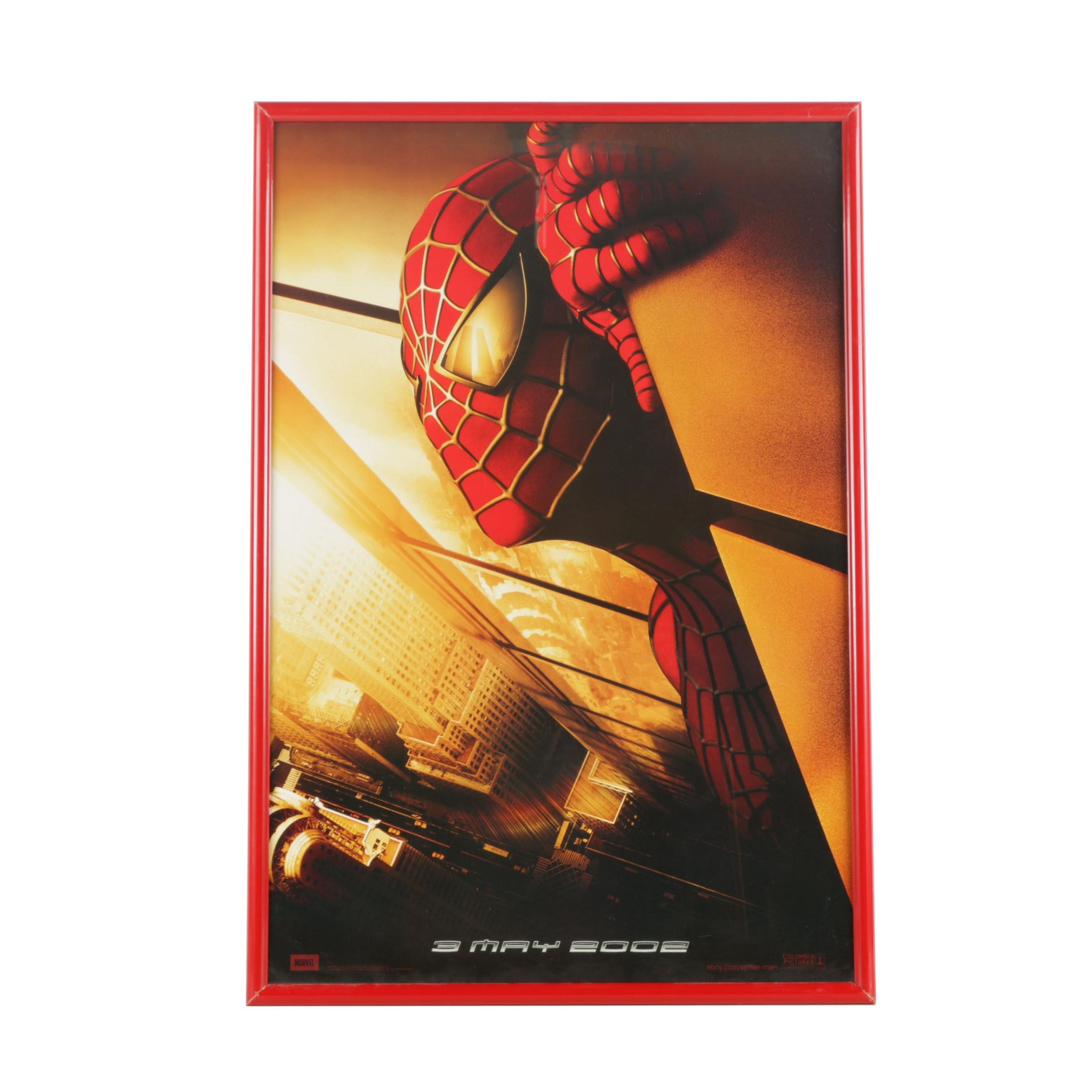 "Framed ""Spider-Man"" Movie Poster"
