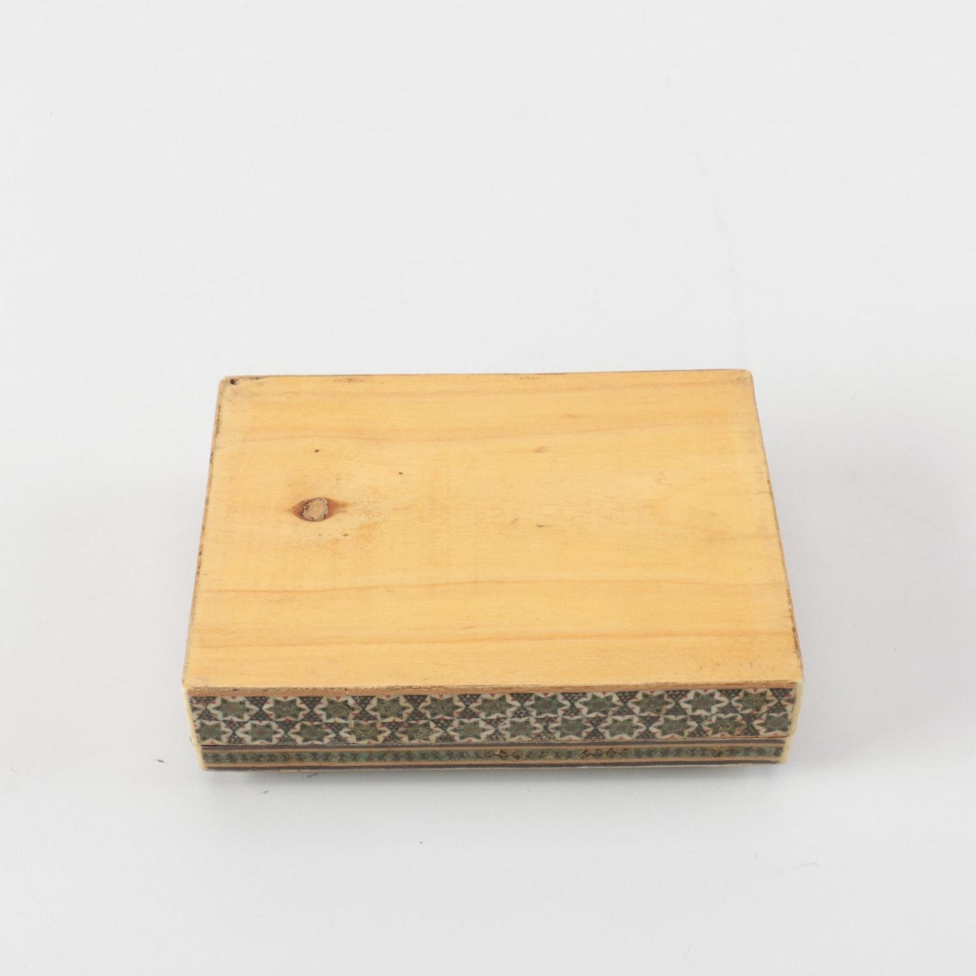 Star motif marquetry cigarette box ebth for 1 1 2 box auto