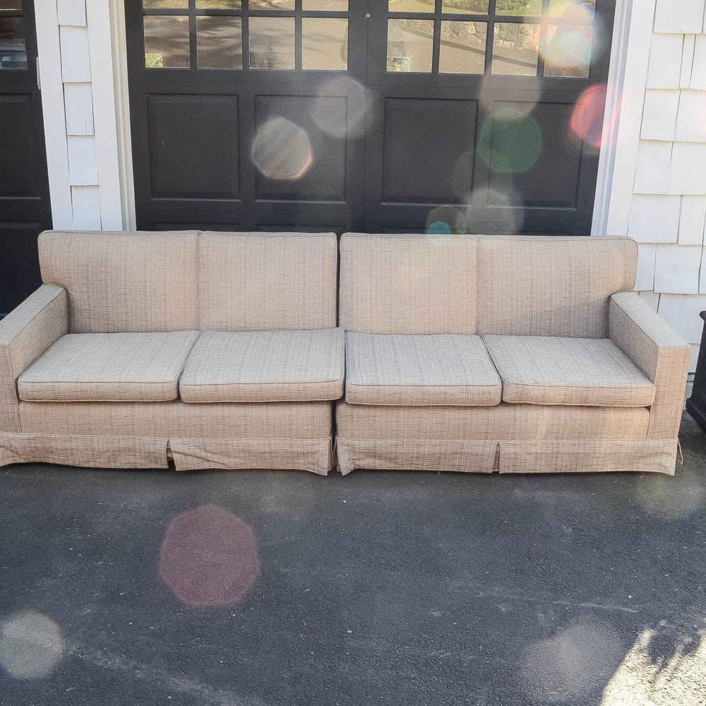 Mid-Century Upholstered Sectional Couch