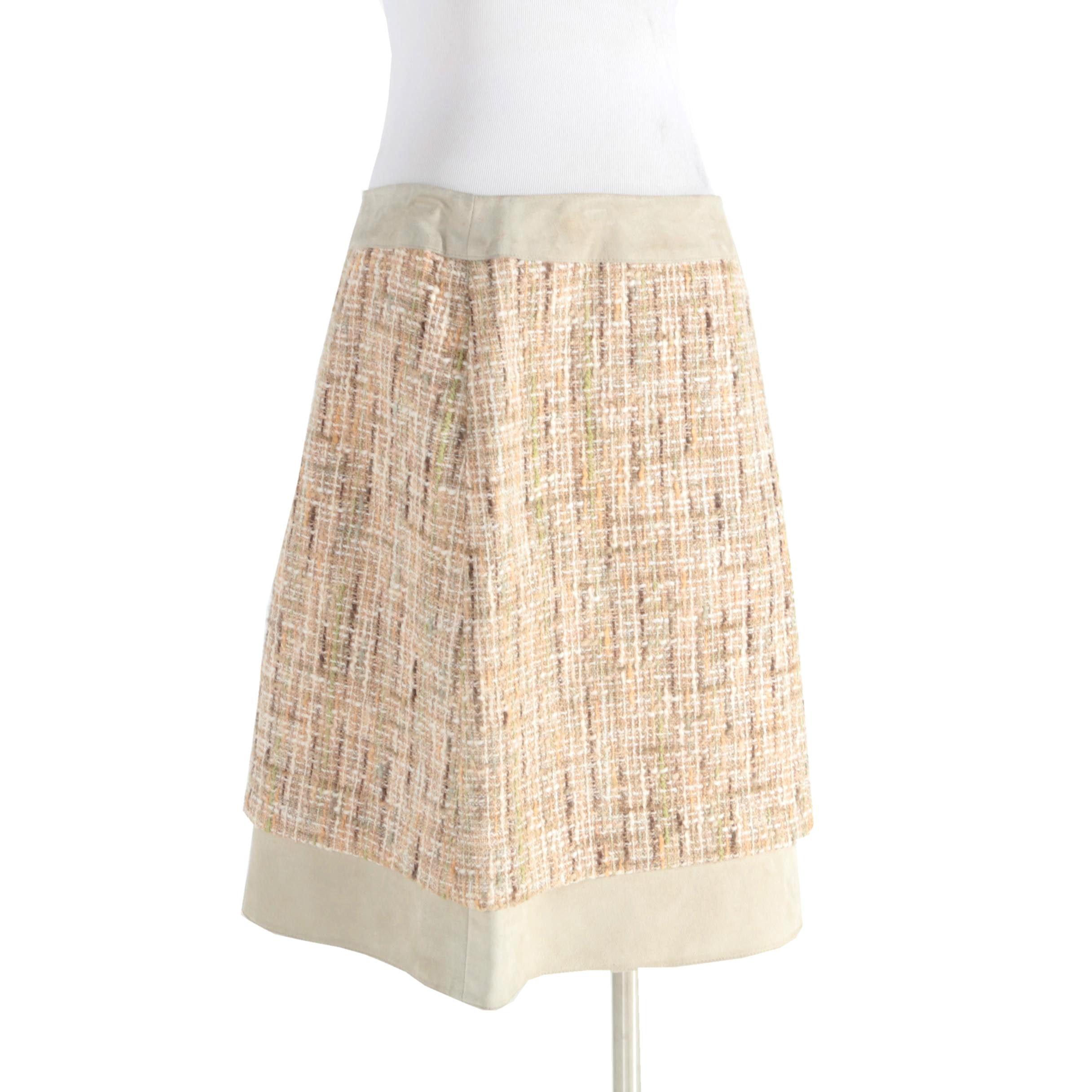 Valentino Tweed Skirt
