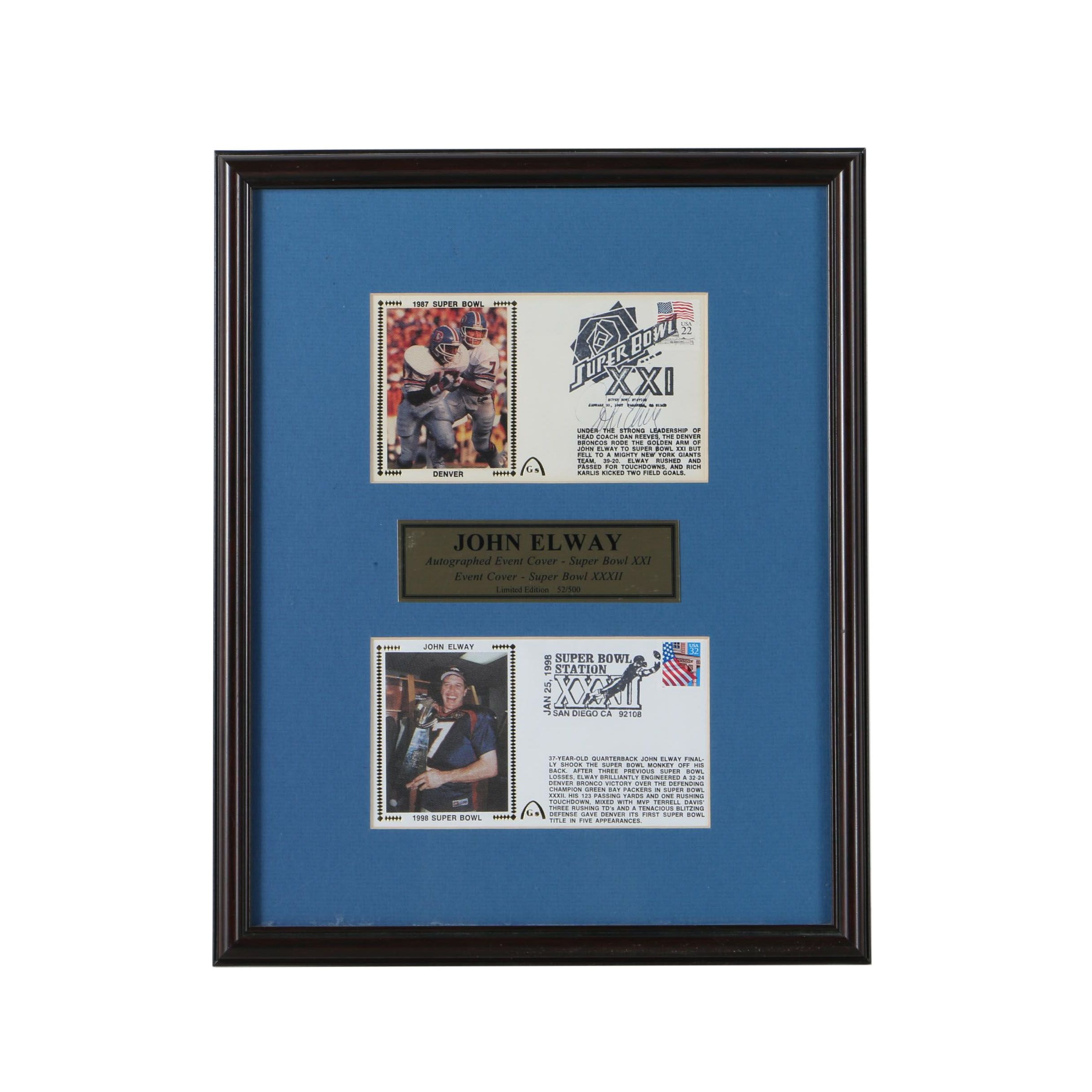 John Elway Autographed Event Cover