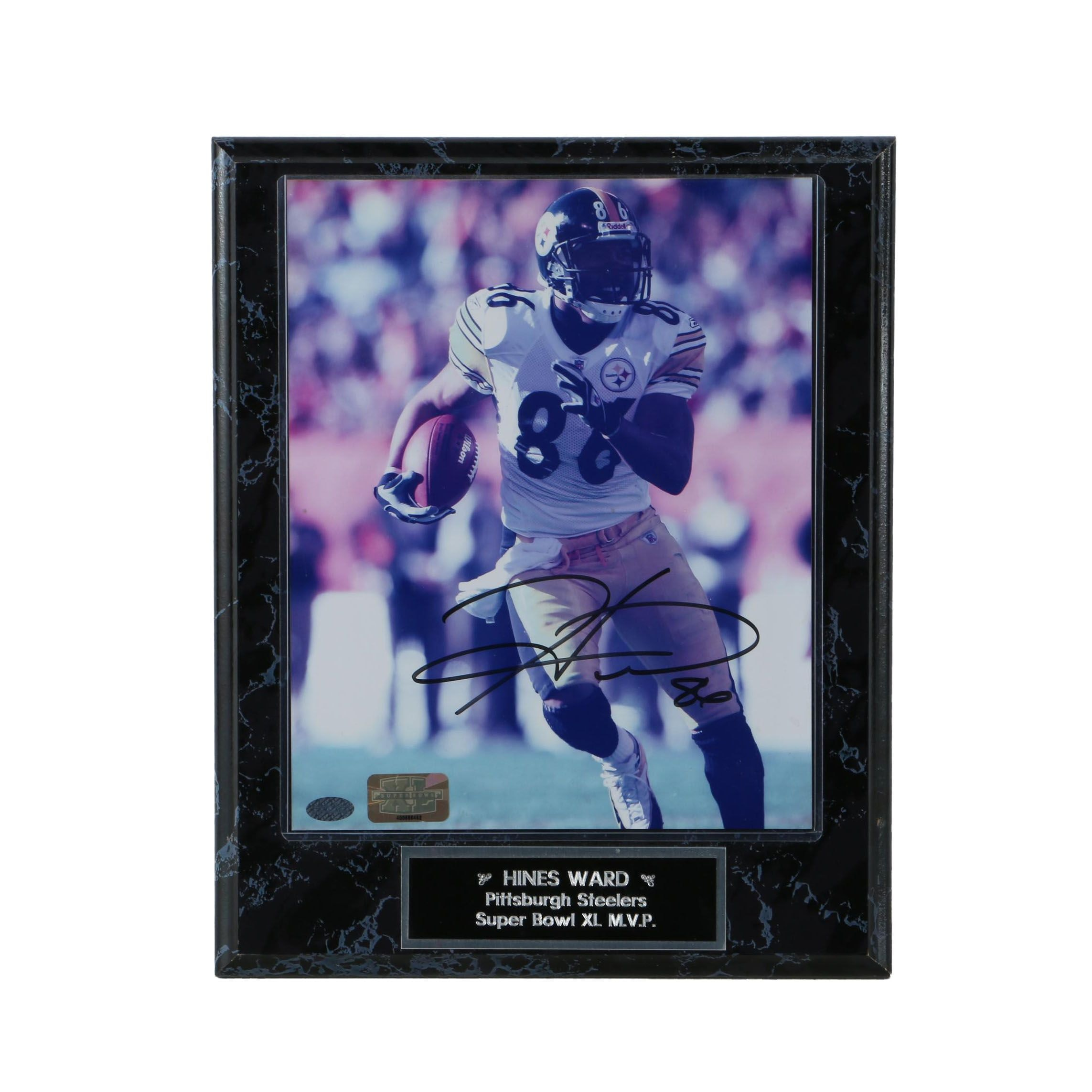 Hines Ward Super Bowl M.V.P. Autographed Plaque