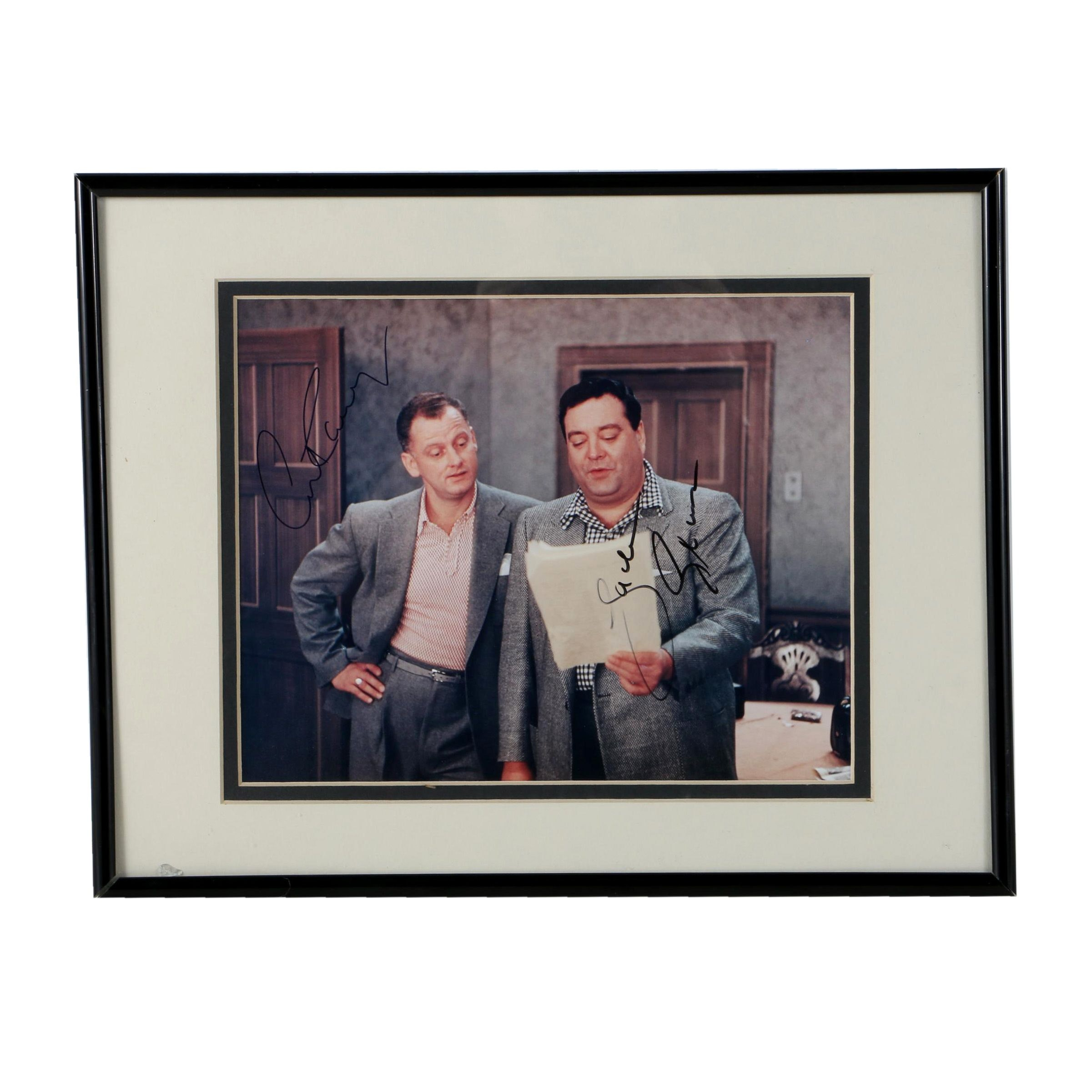 Jackie Gleason and Art Carney Autographed Photo