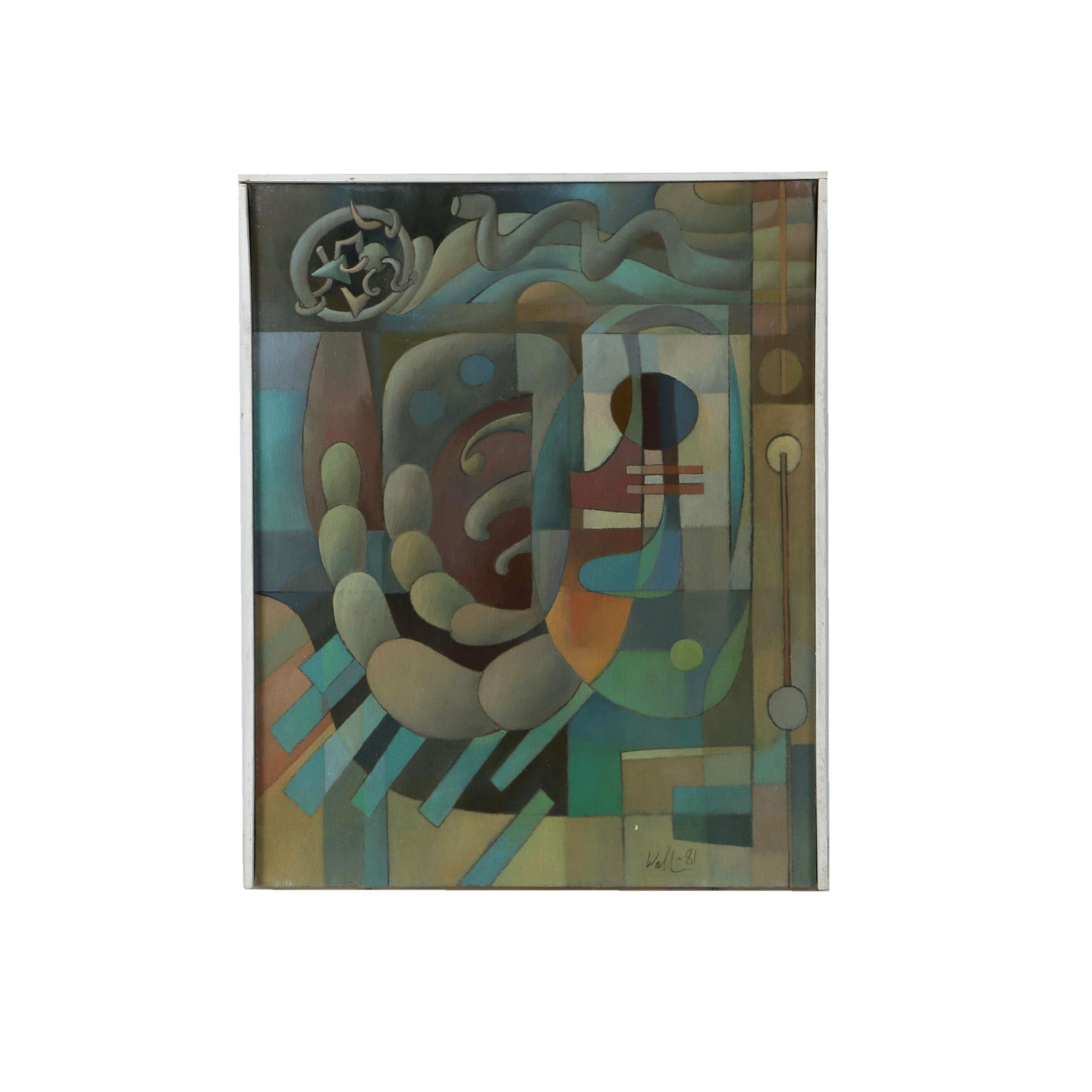 David Walker Abstract Acrylic on Canvas