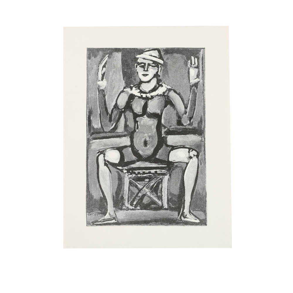 Lithograph on Paper of Figure After Georges Rouault