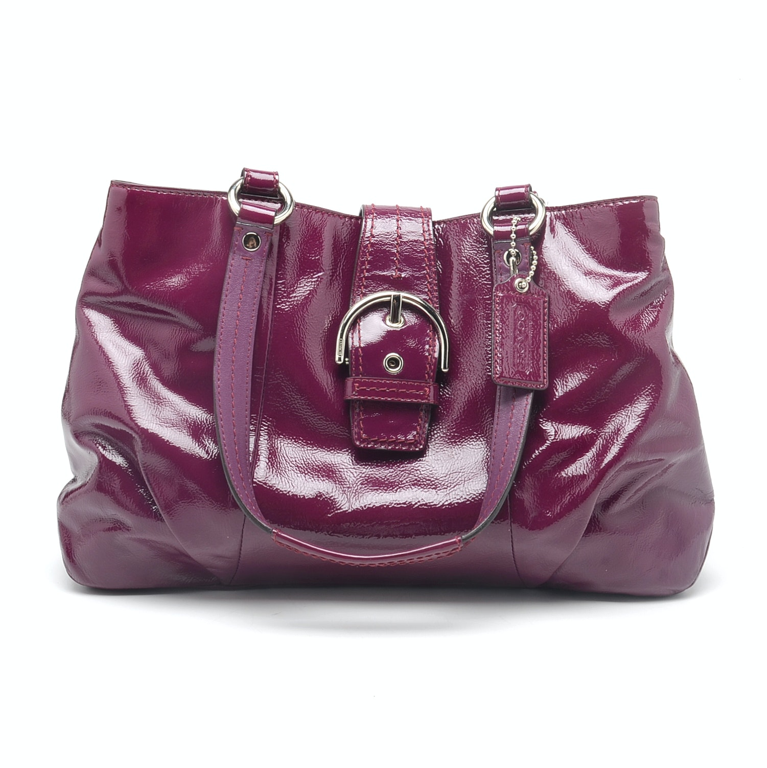 Coach Soho Plum Patent Leather Handbag
