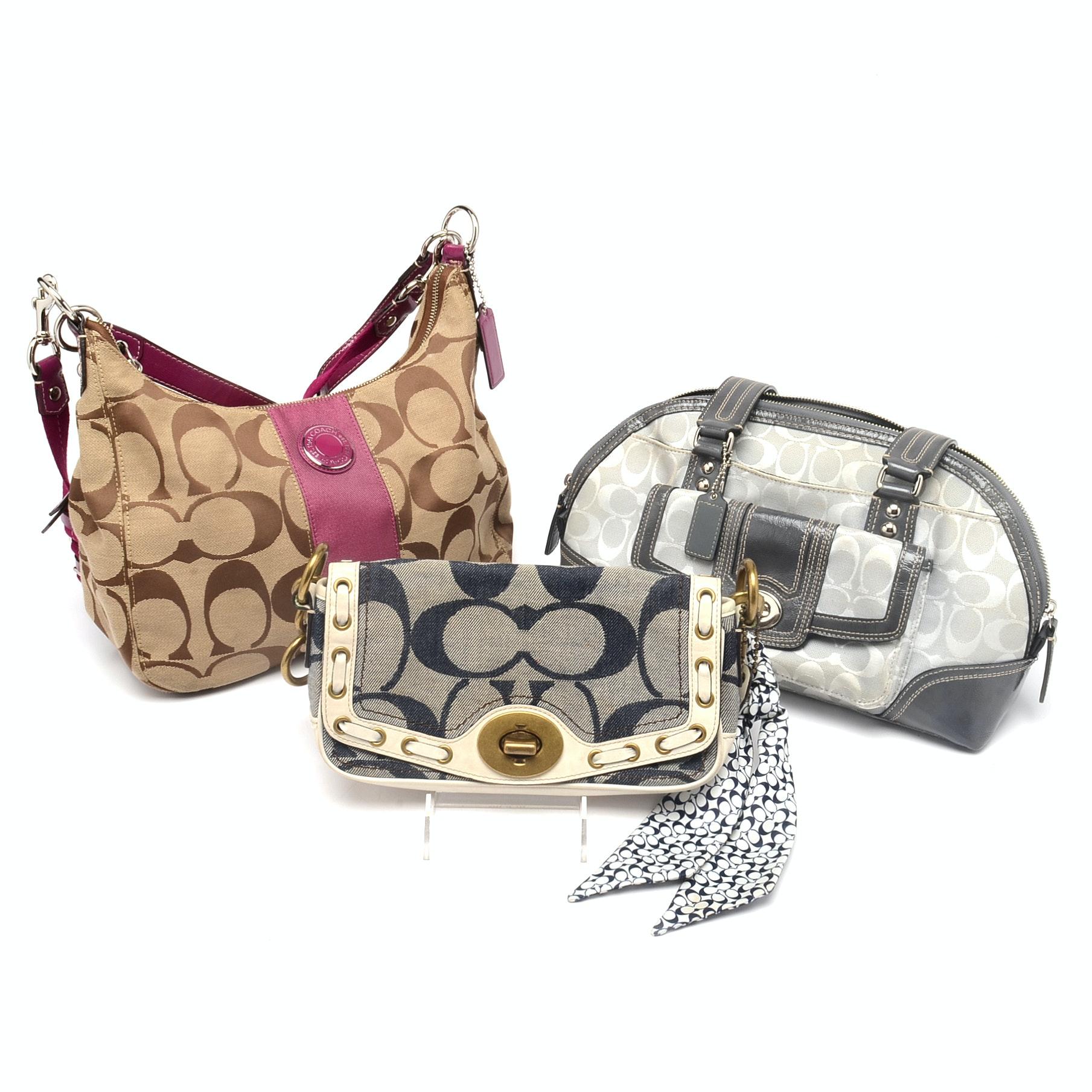 Coach Signature Canvas Handbags