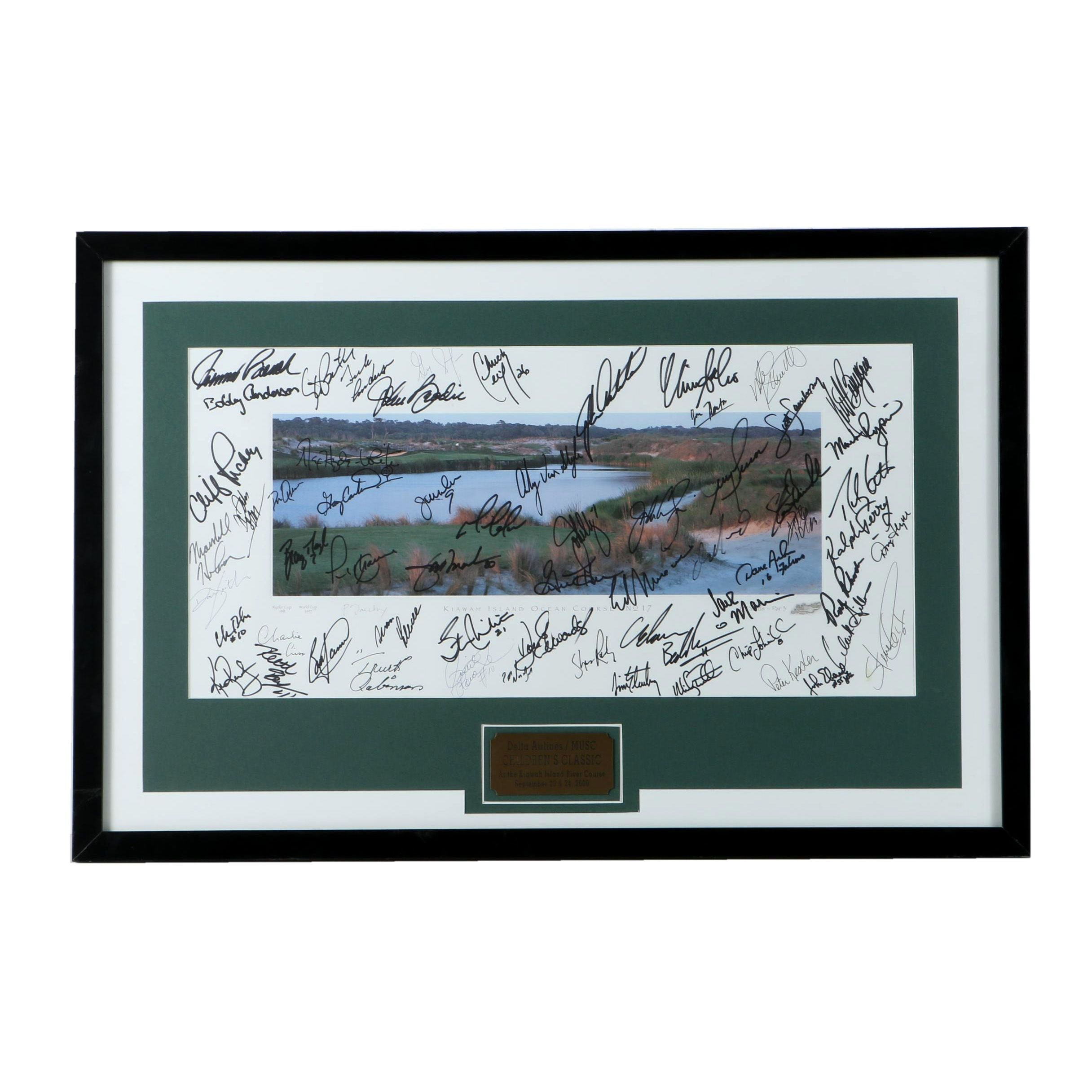 2000 Multiple Pro Athlete Autographed Charity Golf Tournament Print