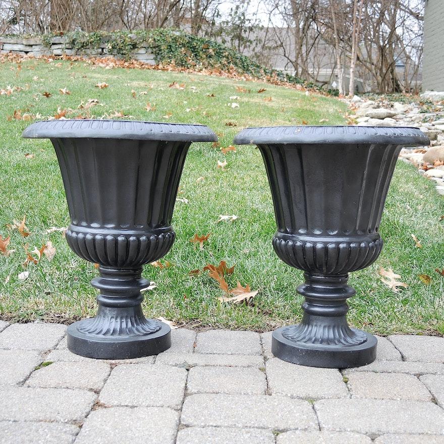 Fiberglass Decorative Garden Urn Planters : EBTH