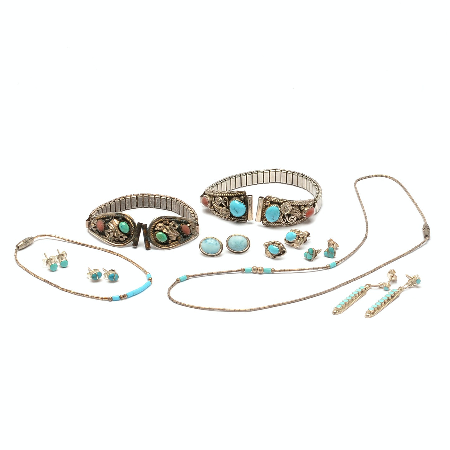 Sterling Silver Jewelry with Turquoise, Larimar and More