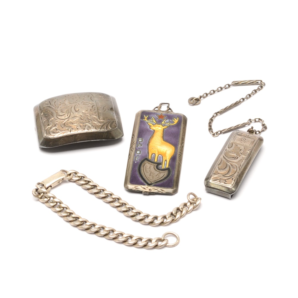 Assortment of Vintage Sterling Silver Accessories