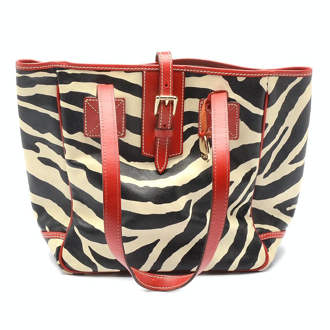 Dooney & Bourke Zebra Tote Bag