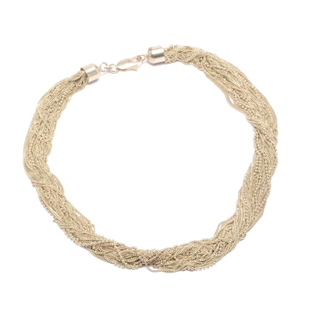 Sterling Silver Multi-Strand Necklace
