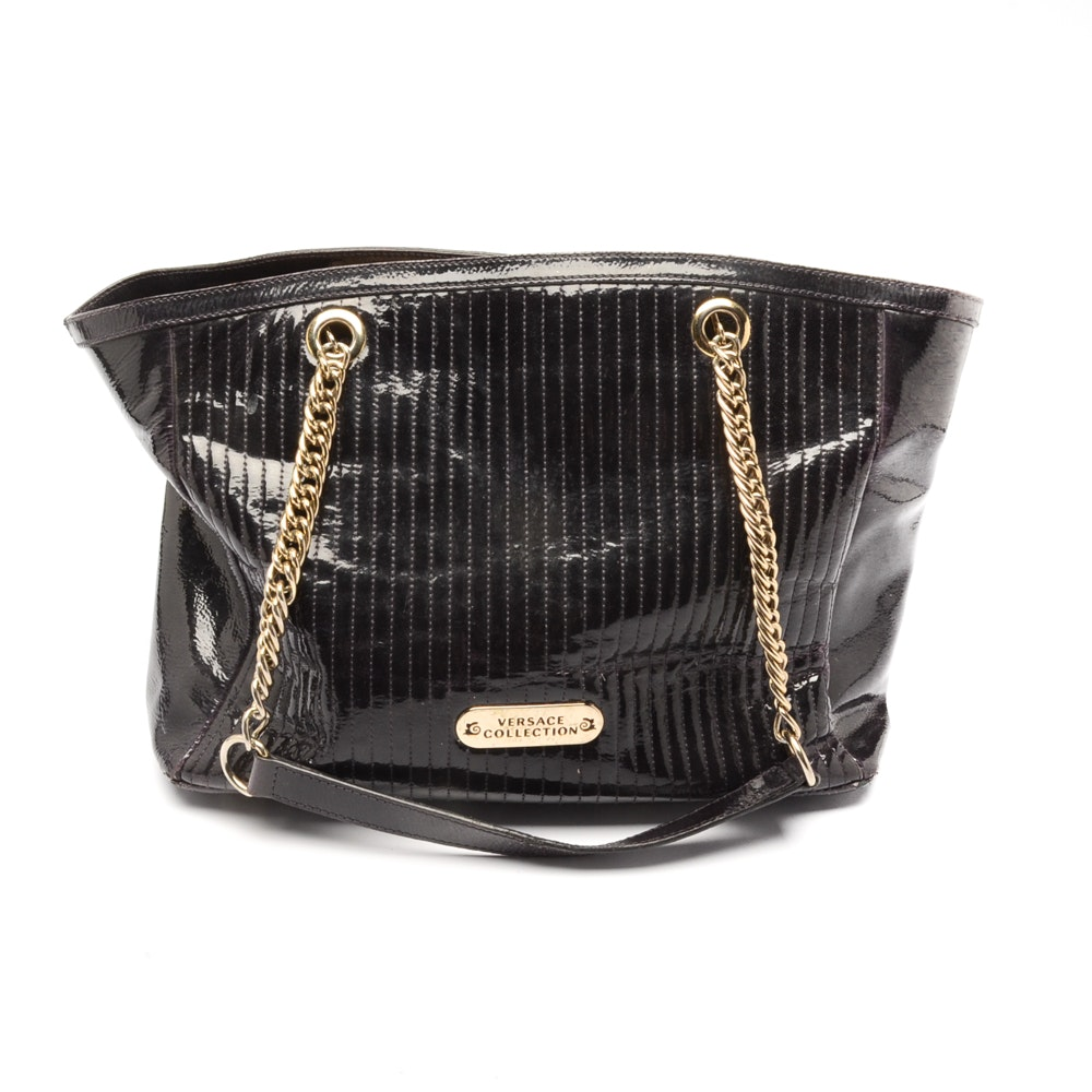 Versace Collection Black Tote Bag