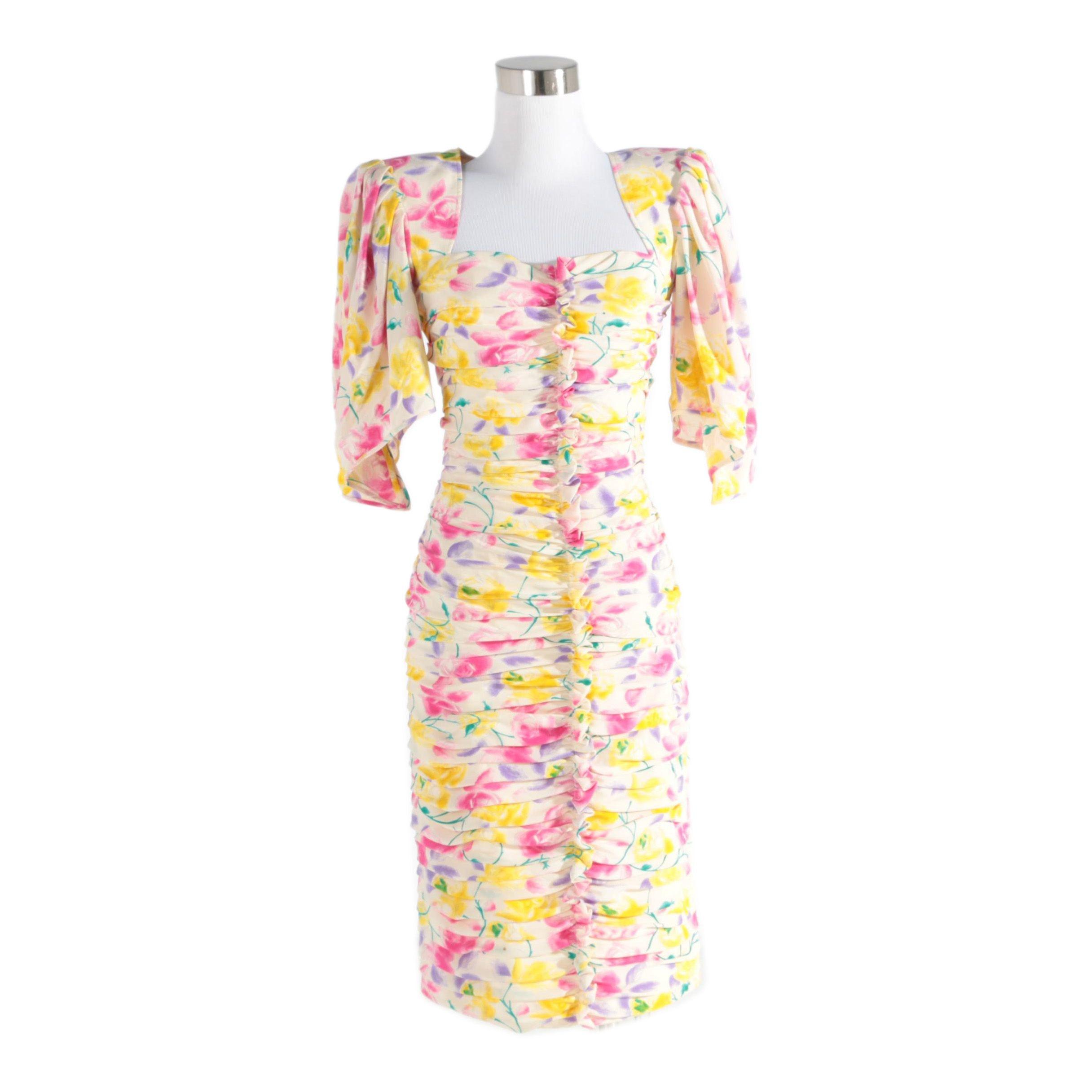 Women's Vintage Floral Dress