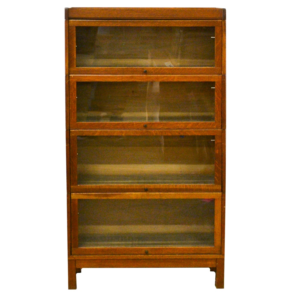 Antique Sectional Oak Bookcases by Lundstrom
